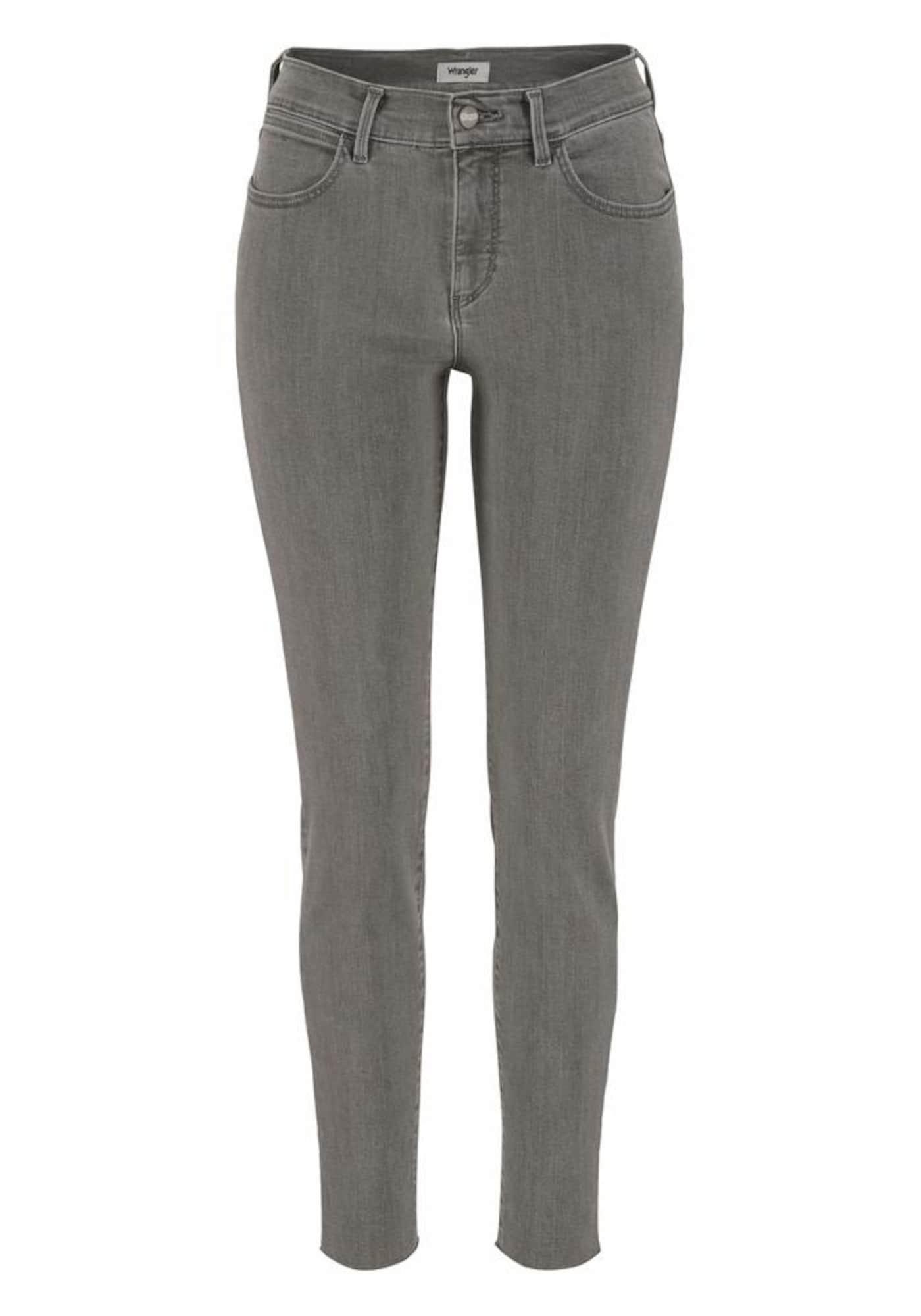 WRANGLER Dames Jeans High Rise Skinny donkergrijs