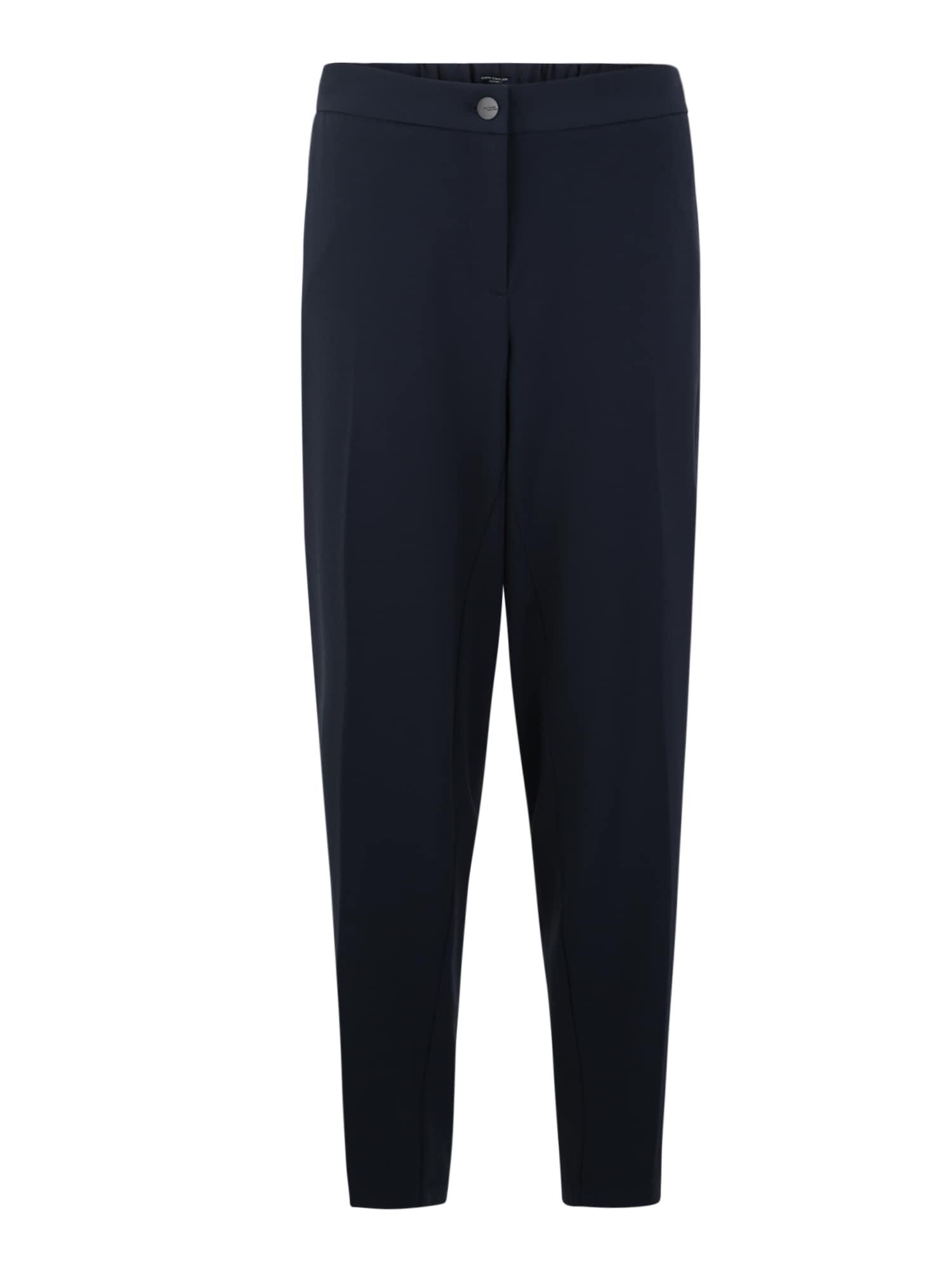 Tom Tailor Women Kalhoty se sklady v pase námořnická modř Tom Tailor Women +