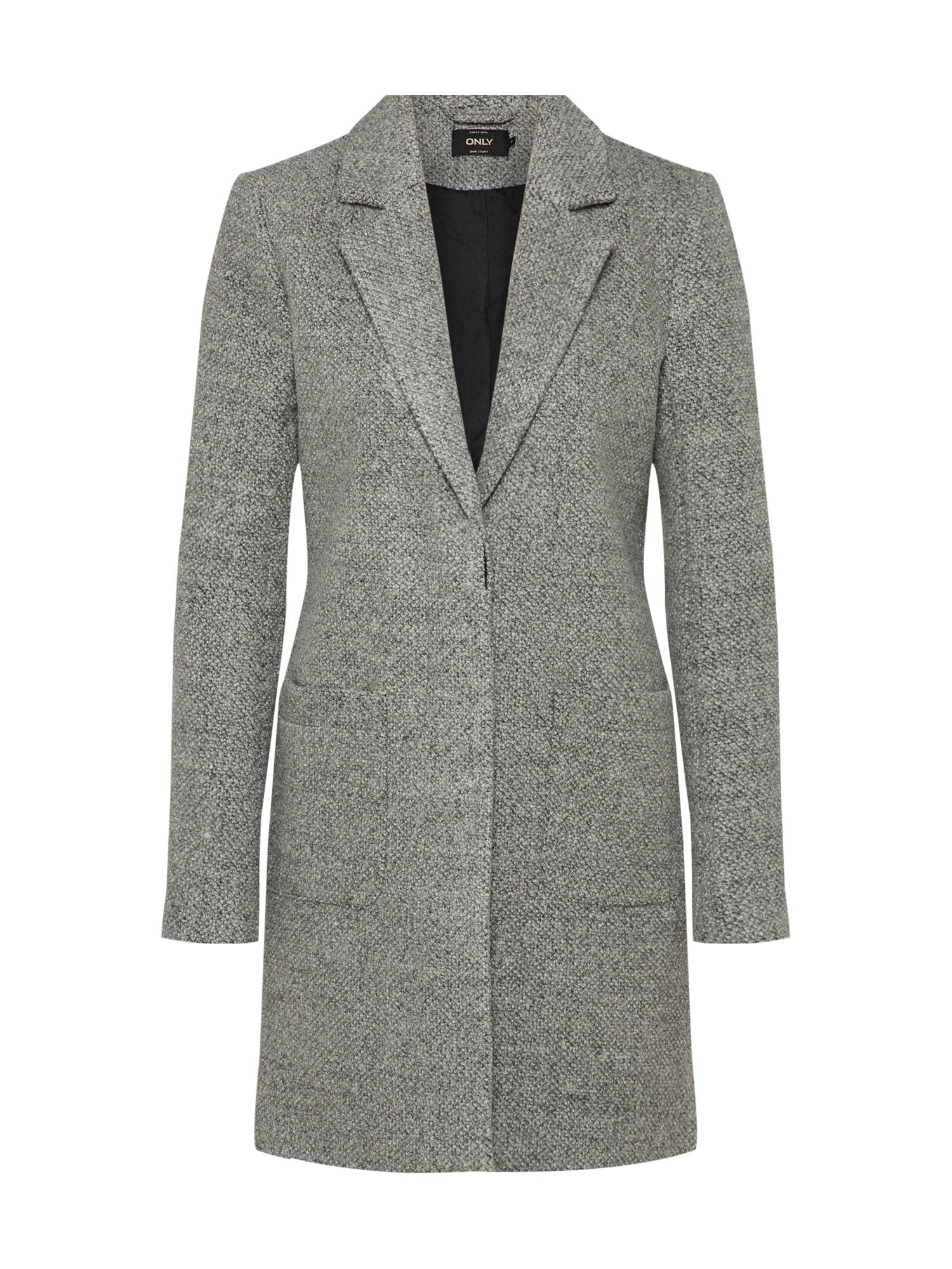 Zimní kabát STONE WOOL COAT světle šedá šedý melír ONLY