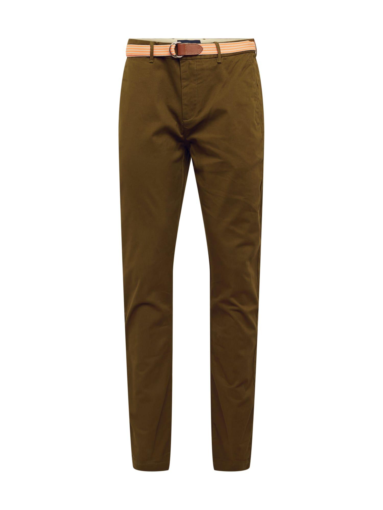 SCOTCH & SODA Chino kalhoty 'Stretch Stuart with belt'  khaki