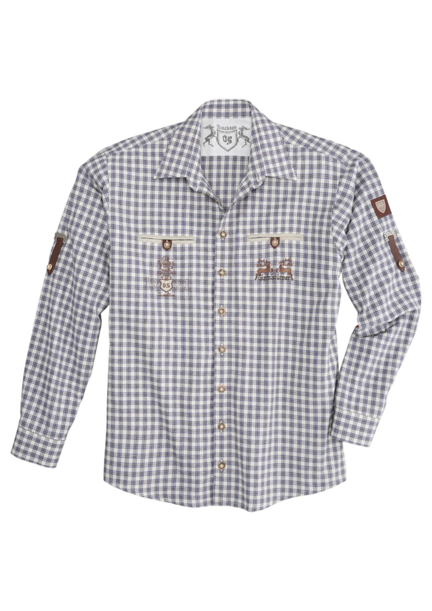 Trachtenhemd in Flanelloptik   Bekleidung > Hemden > Trachtenhemden   Lila - Weiß   OS-TRACHTEN