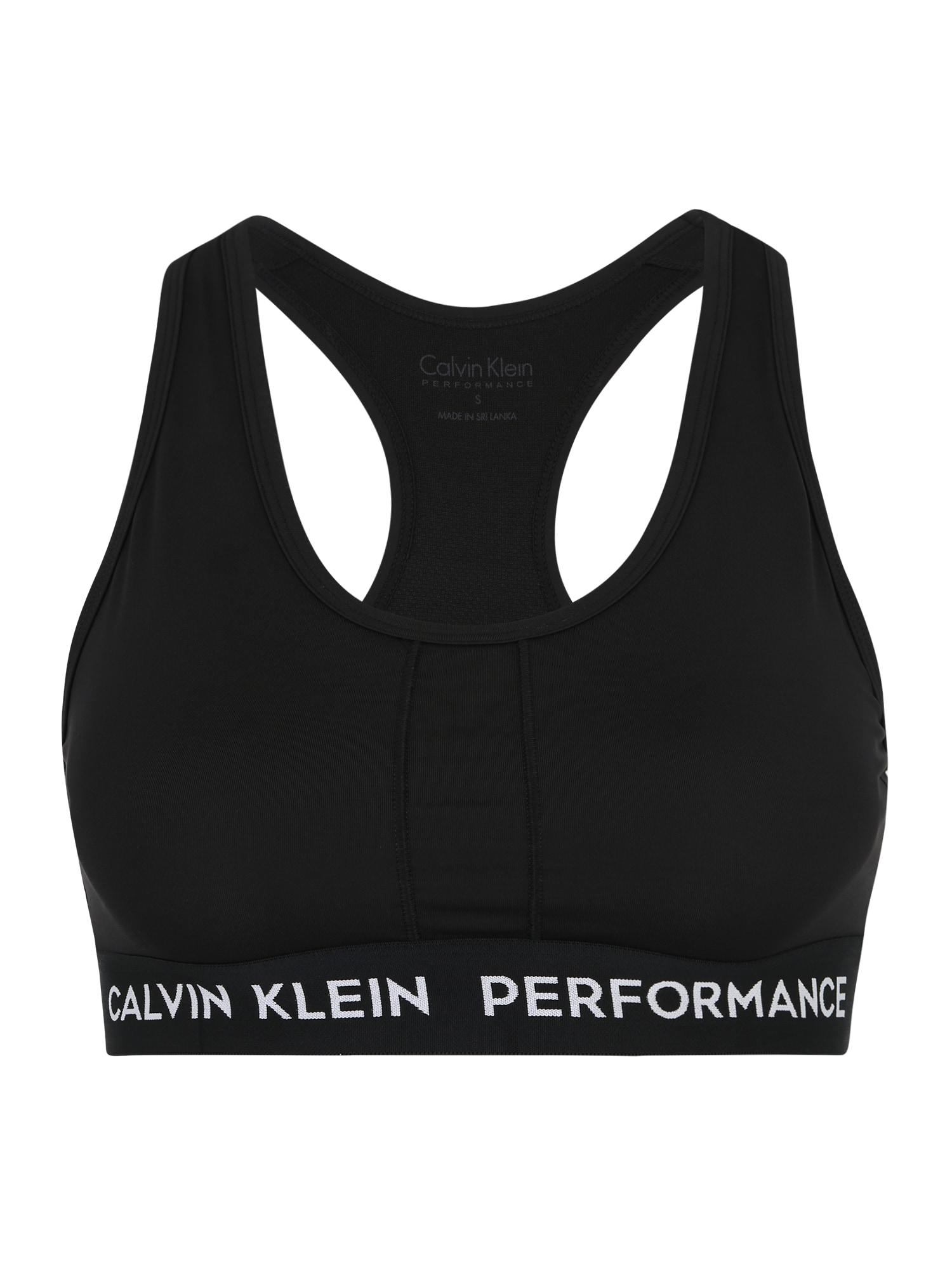 Sportovní podprsenka černá Calvin Klein Performance