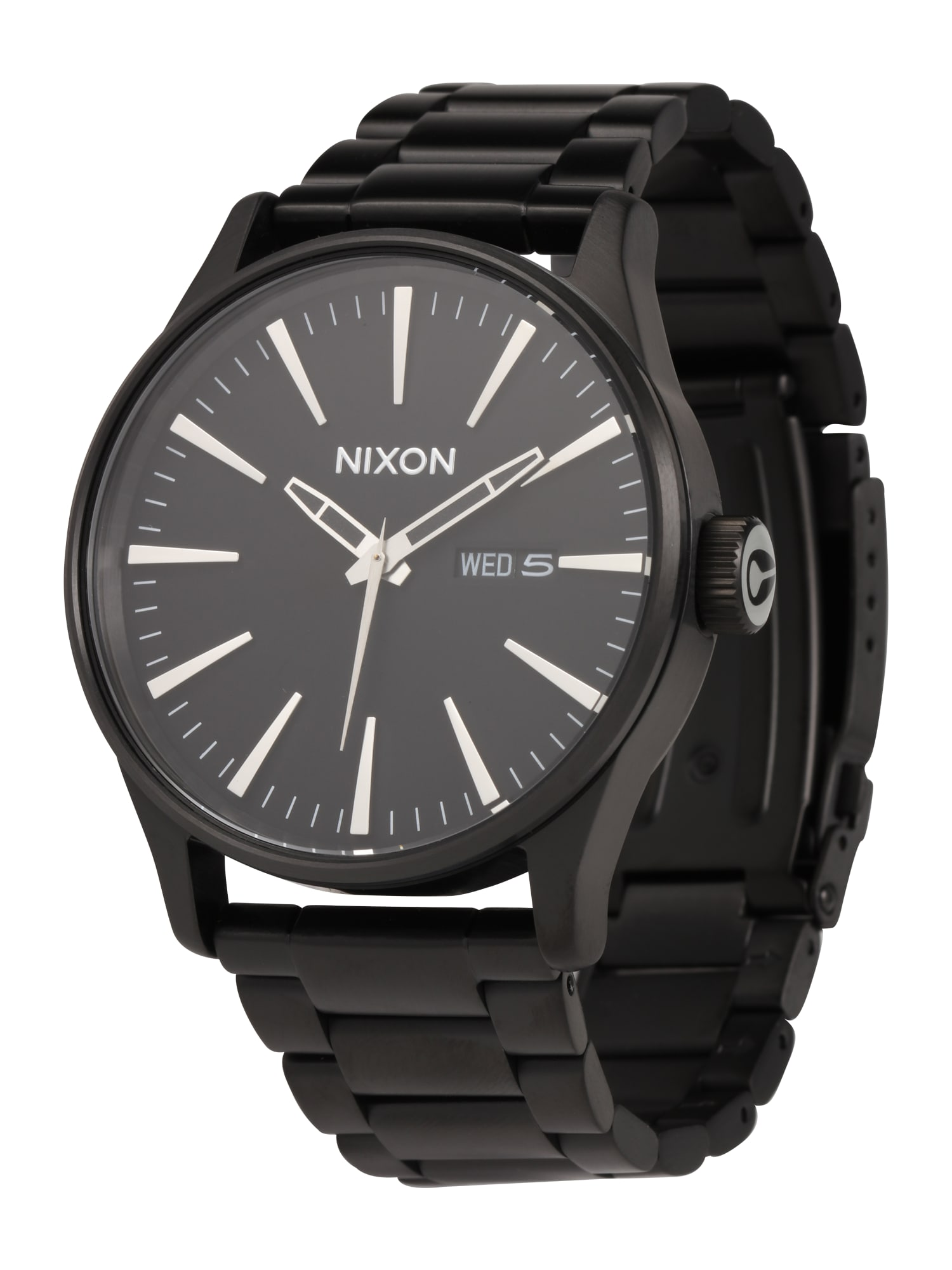 Analogové hodinky Sentry SS All Black A356 001 černá Nixon
