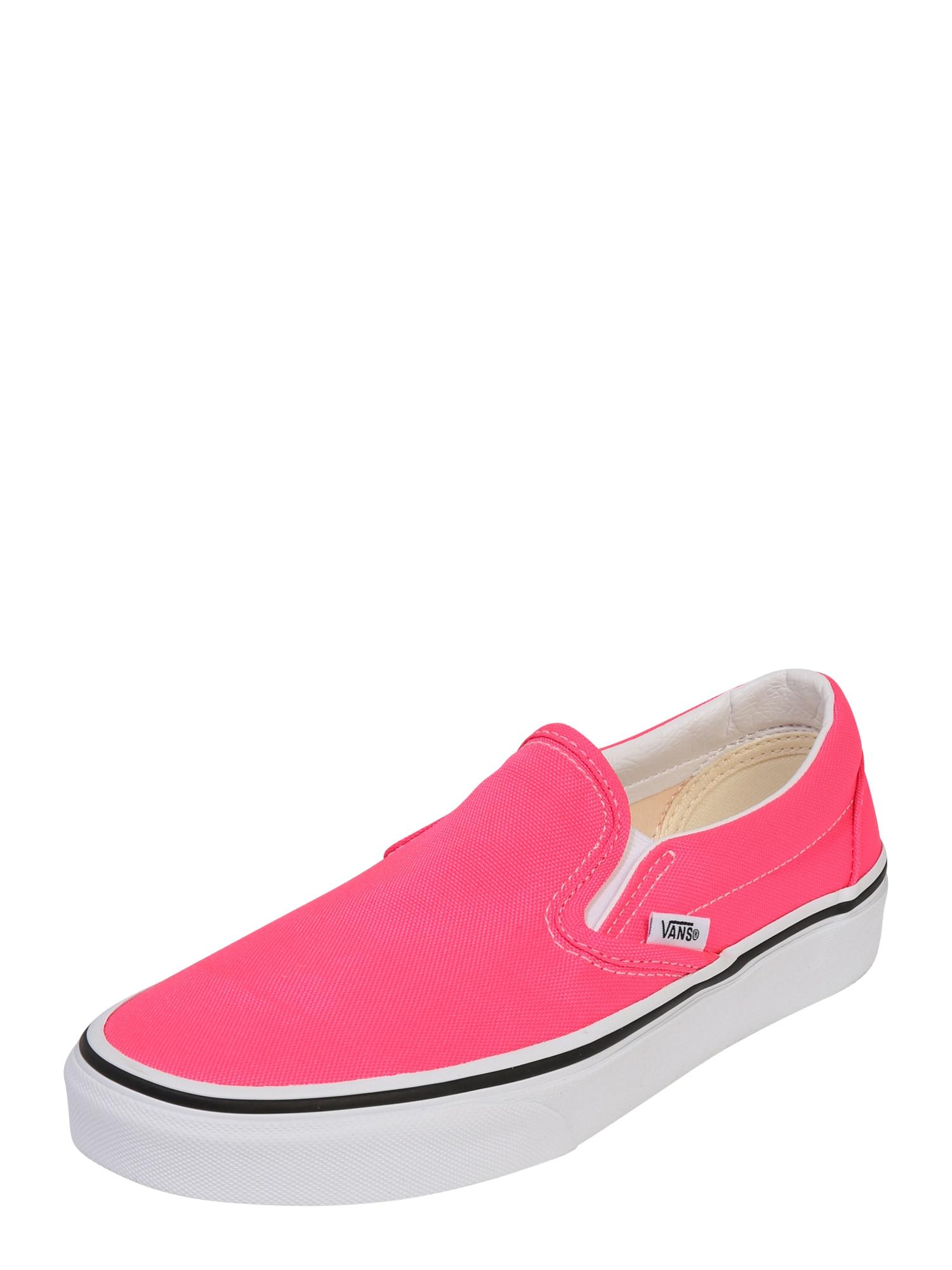VANS Slip on boty  pink / bílá