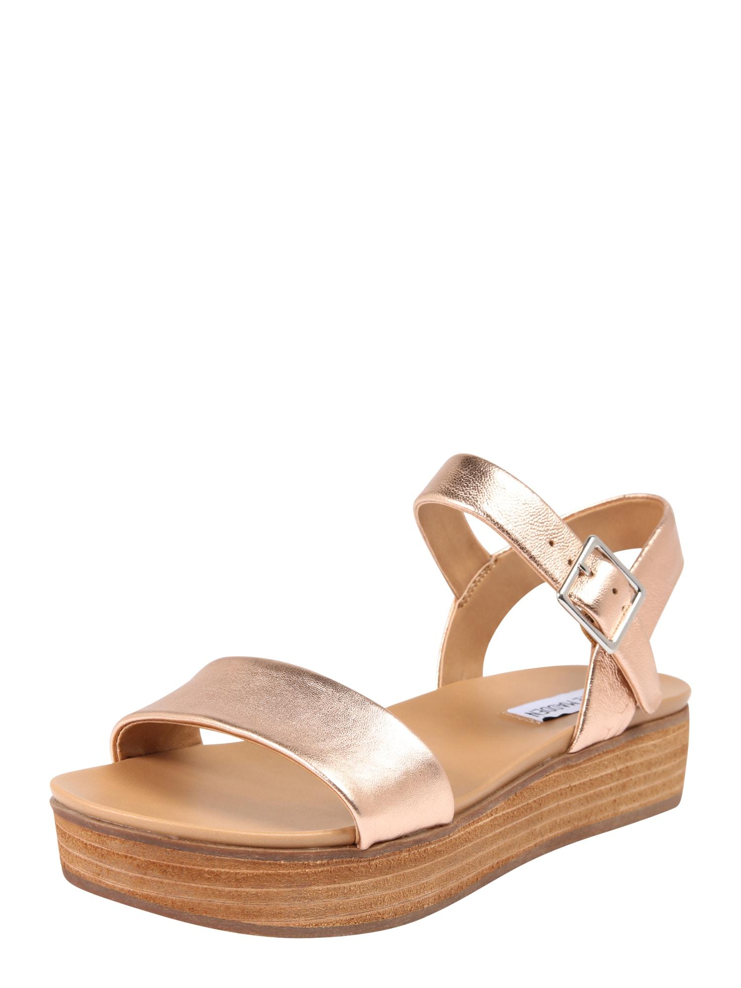 Páskové sandály AIDA zlatá růžová STEVE MADDEN