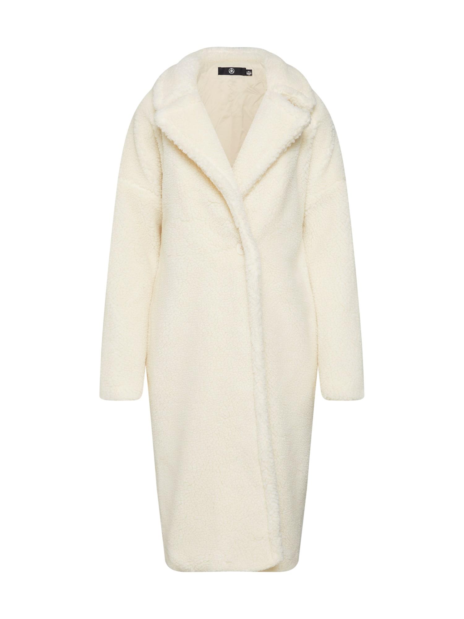 Přechodný kabát Chunky Borg Crombie bílá Missguided