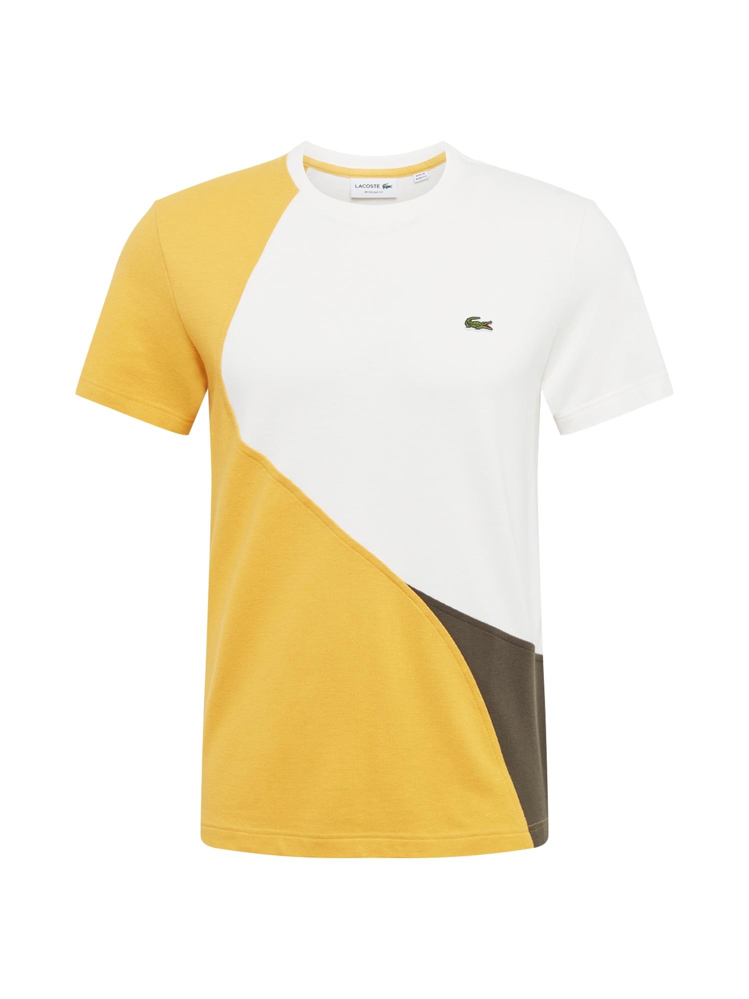 Tričko krémová žlutá LACOSTE