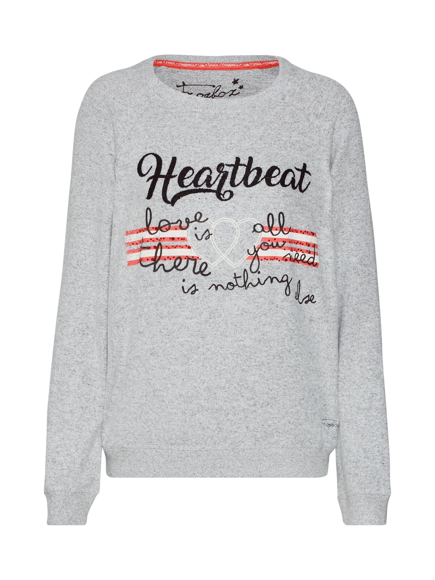 Frogbox, Dames Sweatshirt, grijs / rood