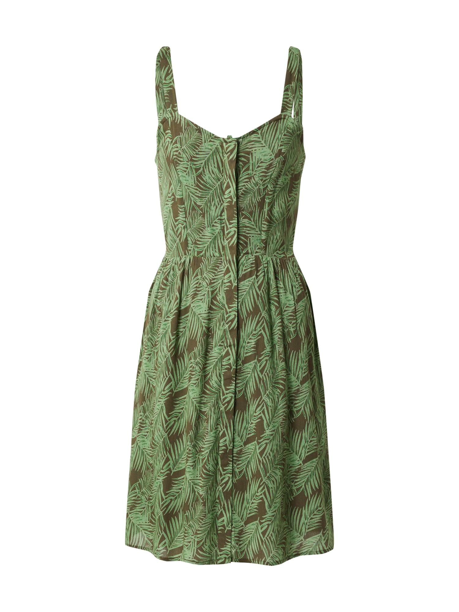 Noisy May Letní šaty 'NMFLORA'  bílá / zelená