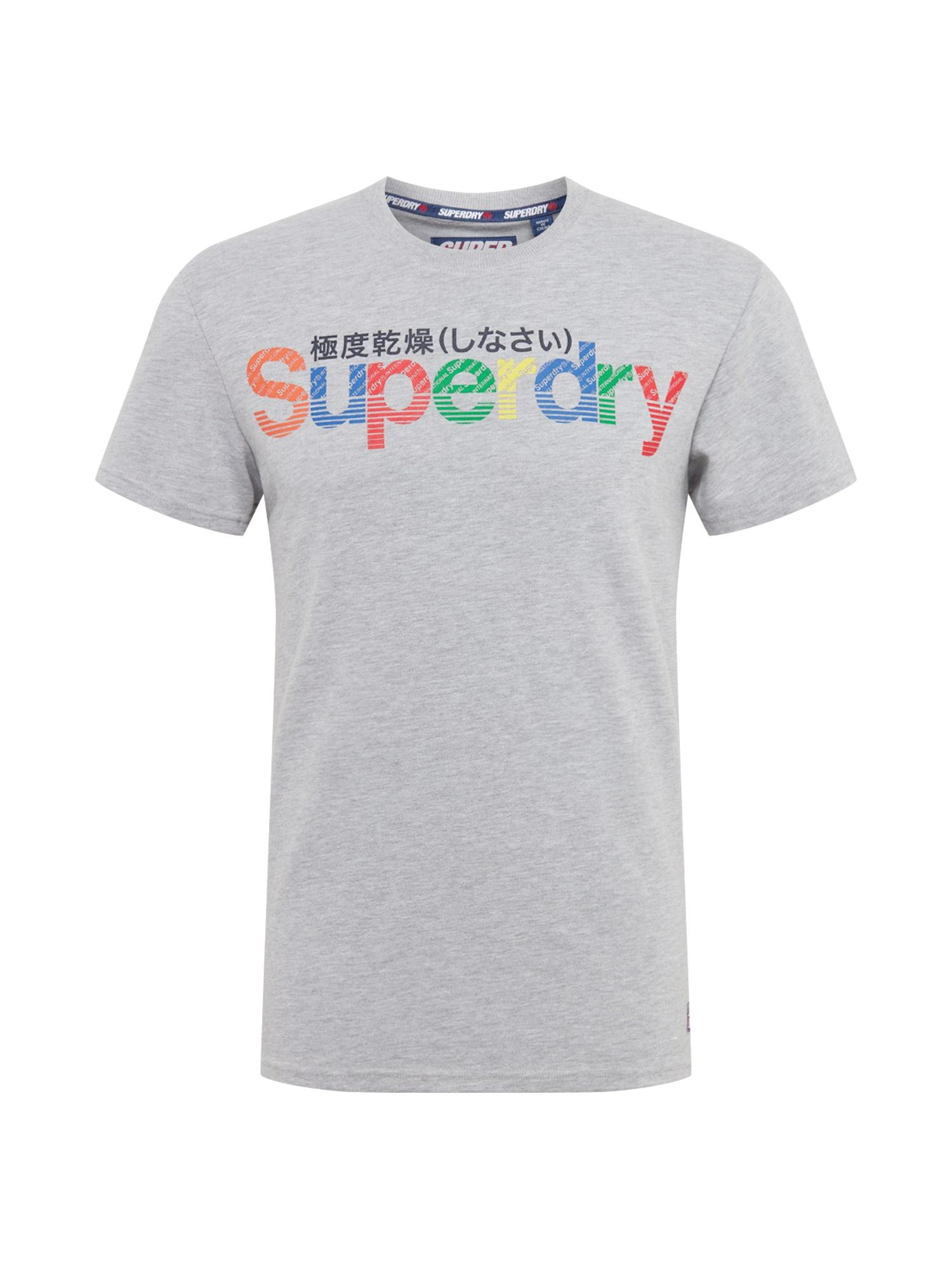 Tričko RETRO šedá mix barev Superdry