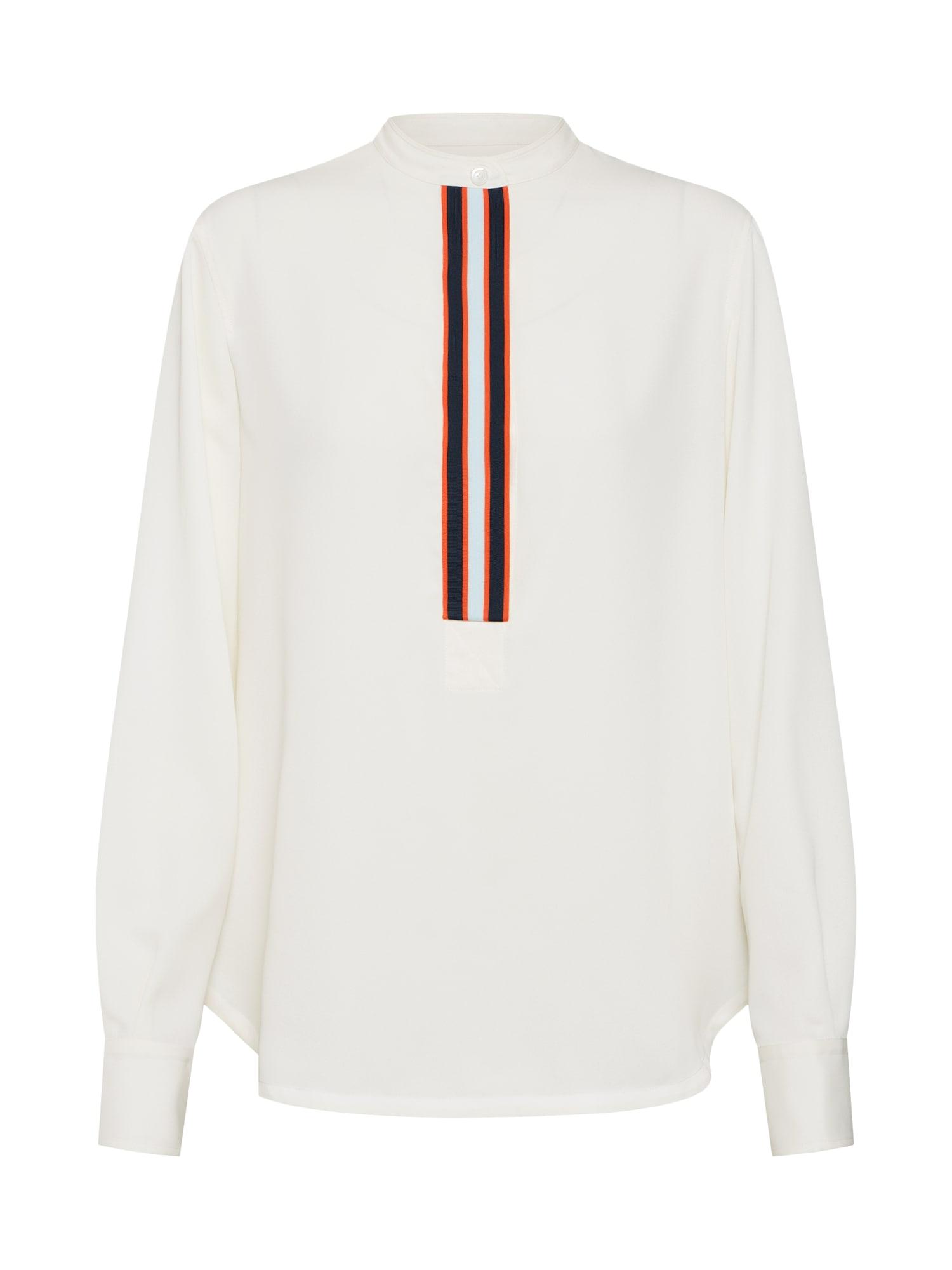 Halenka PLACKET DETAIL SHIRT LS bílá Calvin Klein