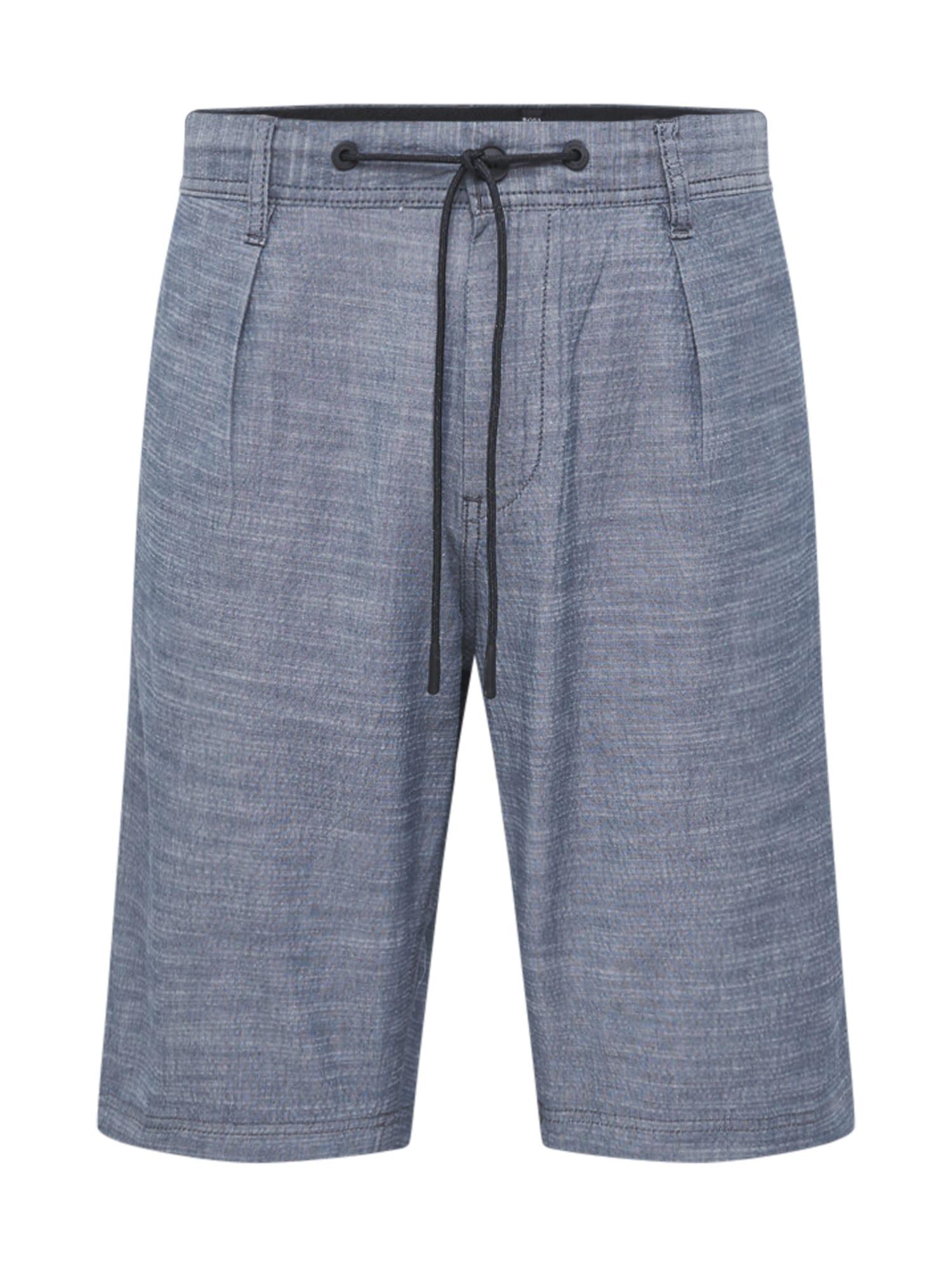 Kalhoty se sklady v pase Symoon tmavě modrá BOSS