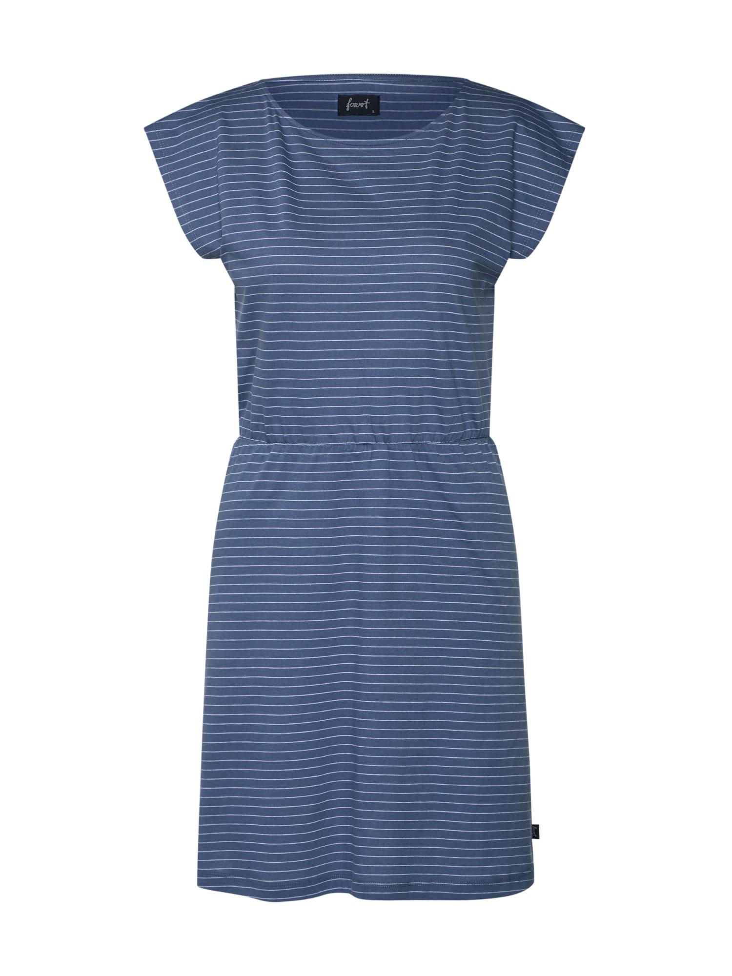 Letní šaty Ereka indigo bílá Forvert