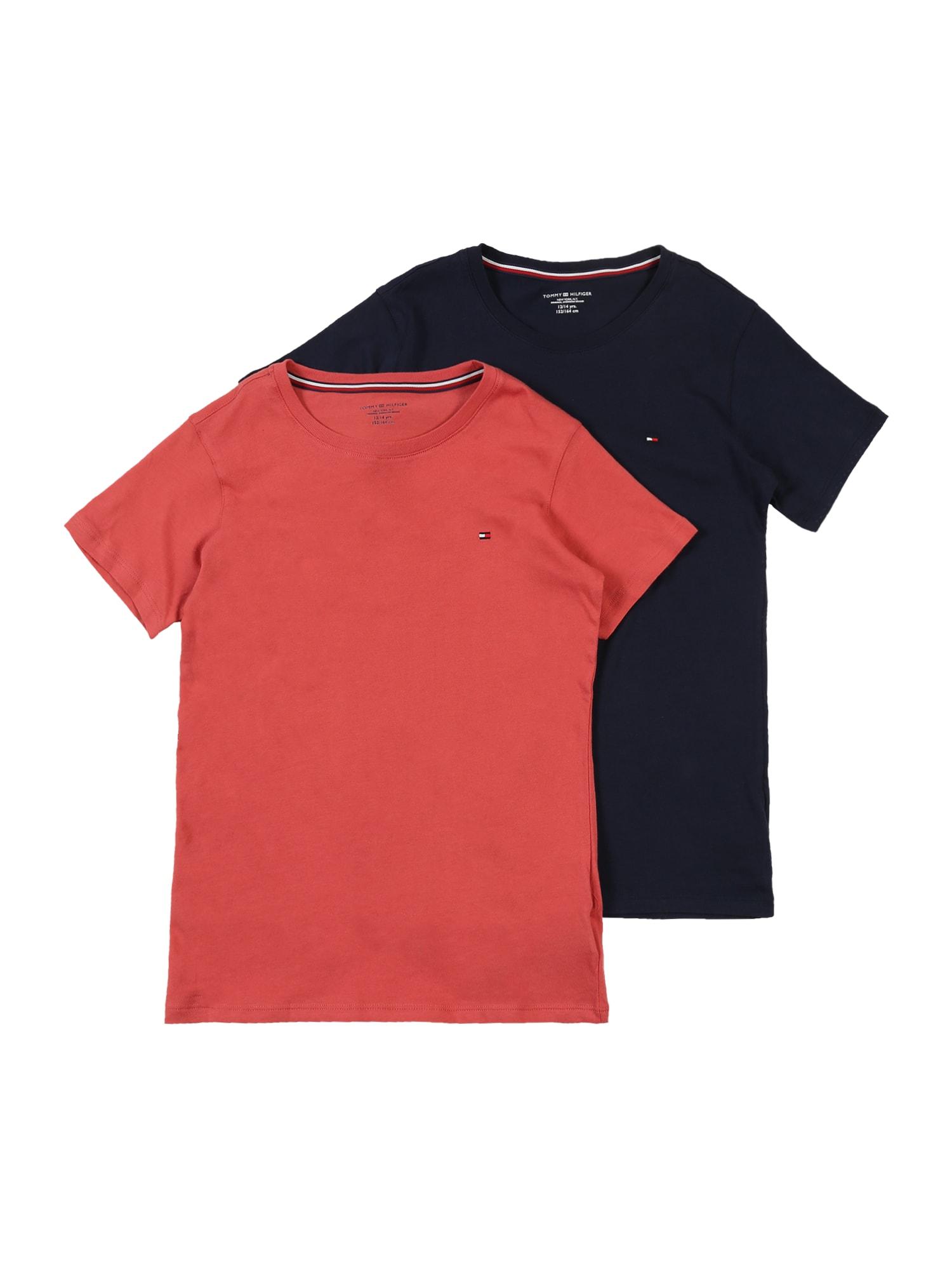 Tommy Hilfiger Underwear Nočná košieľka  námornícka modrá / červené