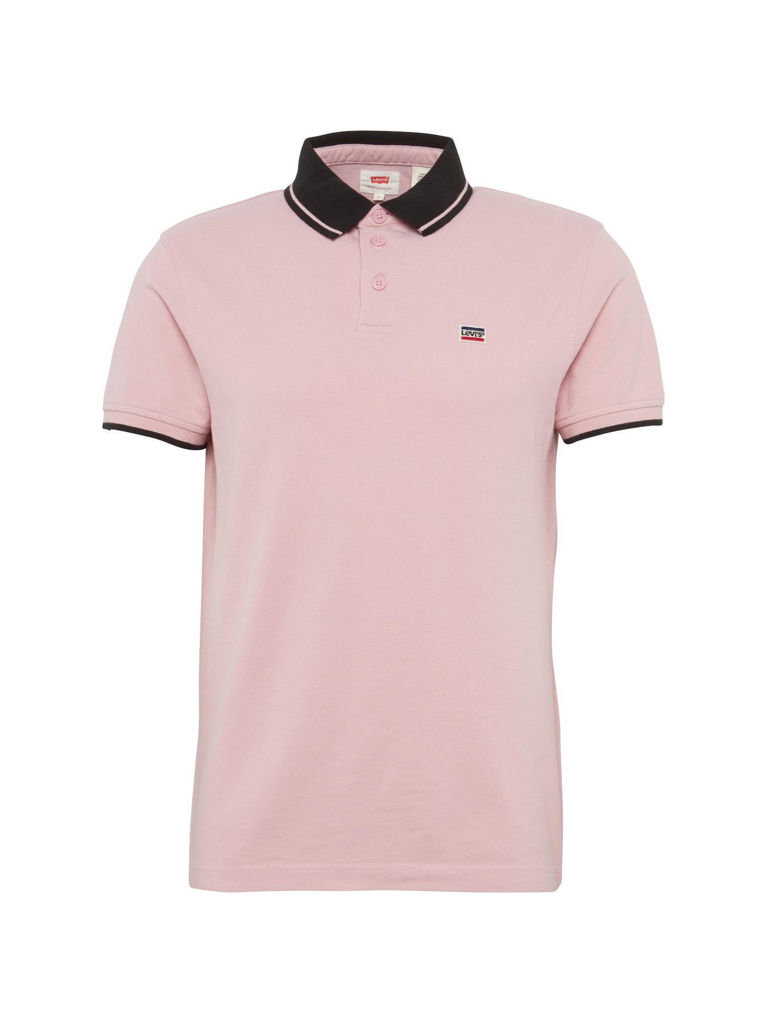 LEVI'S Heren Shirt BREAKER LOGO POLO rosa zwart