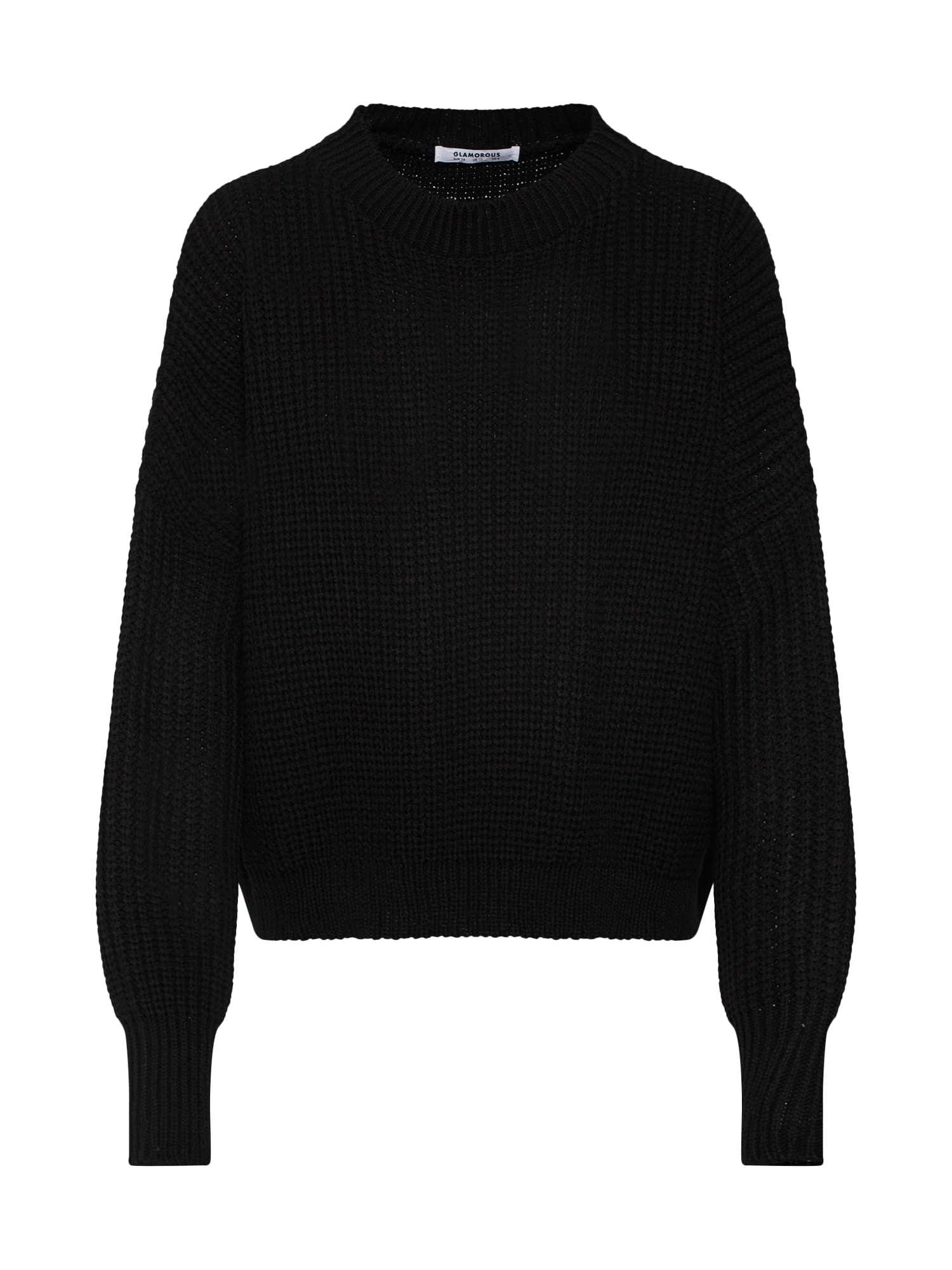 Maxi svetr černá GLAMOROUS