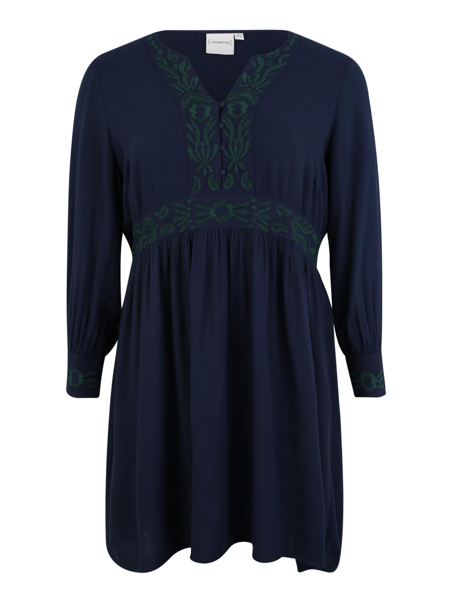 Košilové šaty DELLI námořnická modř jedle Junarose