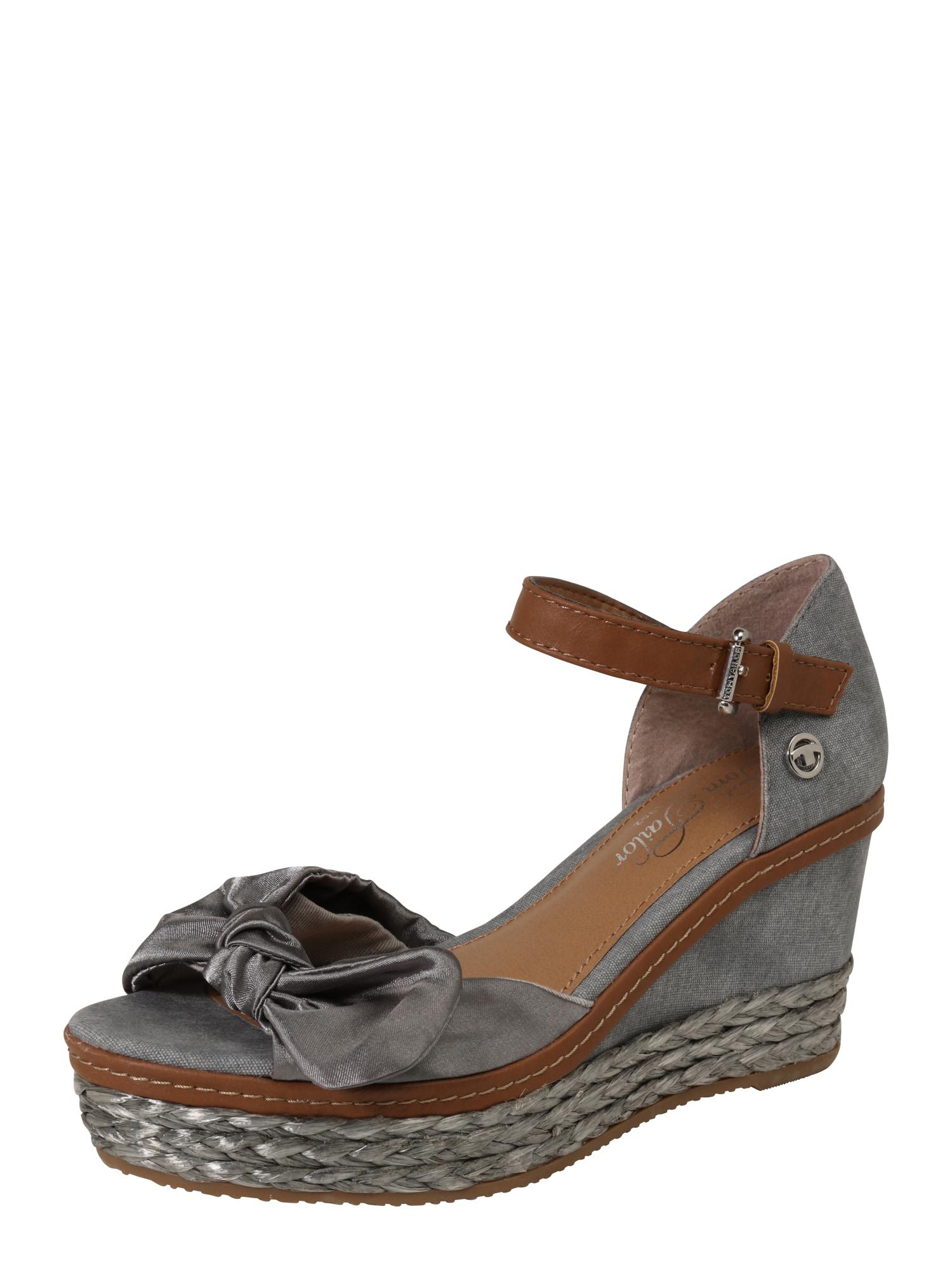 Páskové sandály šedá TOM TAILOR
