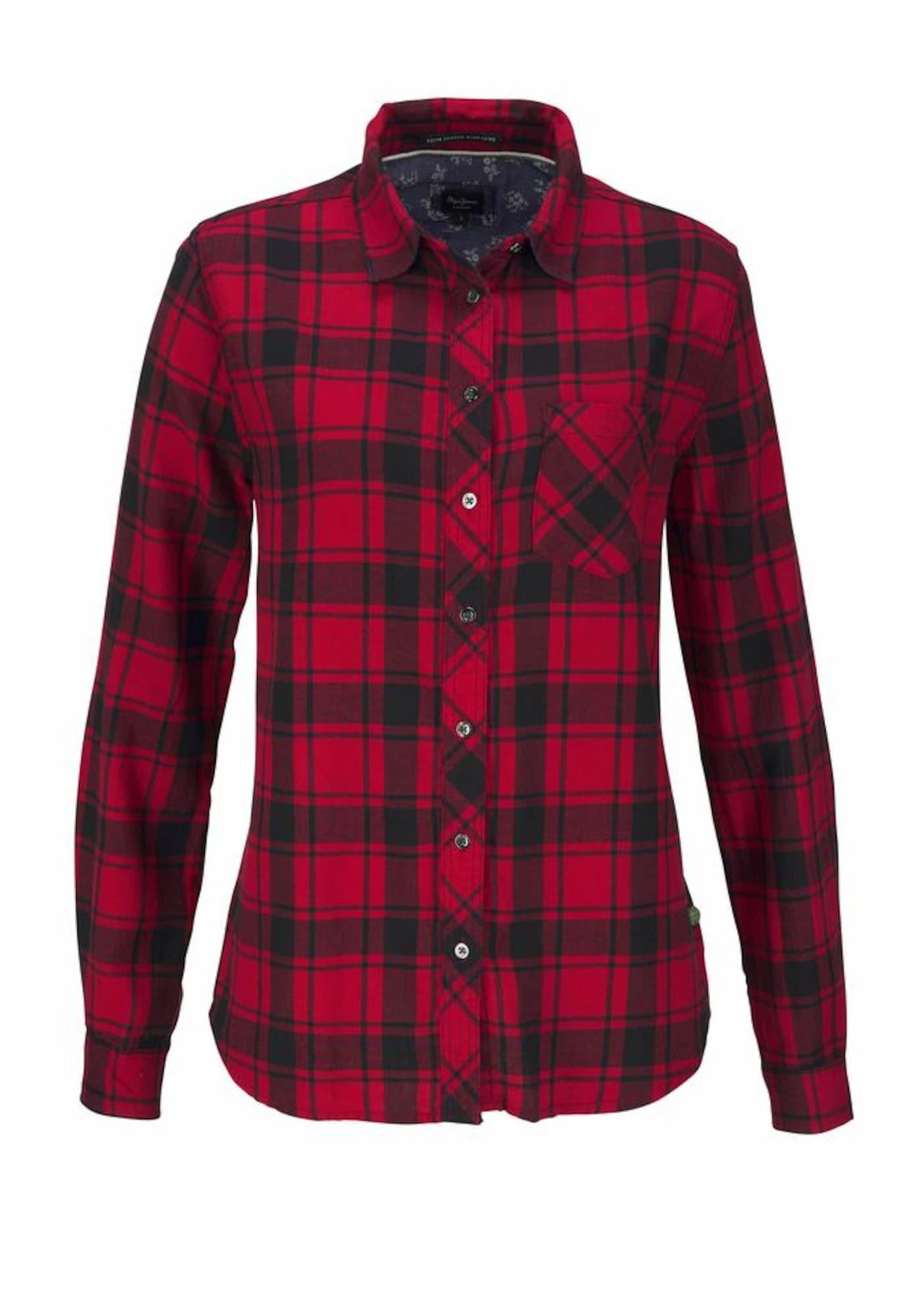 Pepe Jeans Dames Blouse KAREN rood zwart