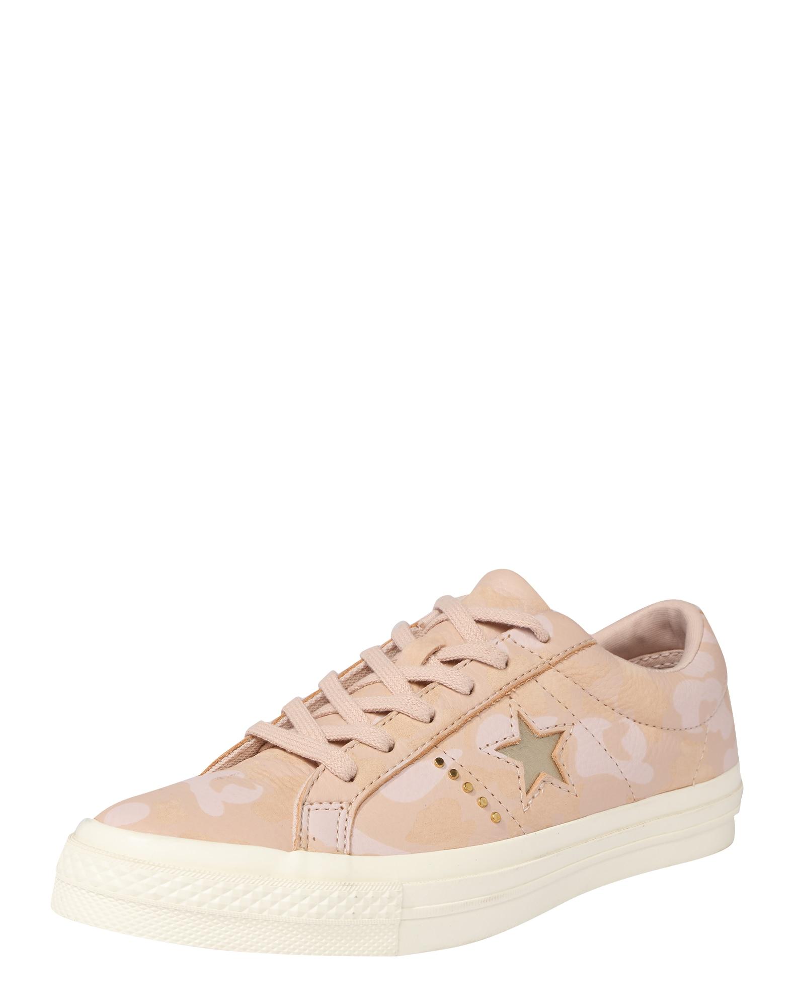 CONVERSE, Dames Sneakers laag 'One Star Ox', beige / goud / rosa