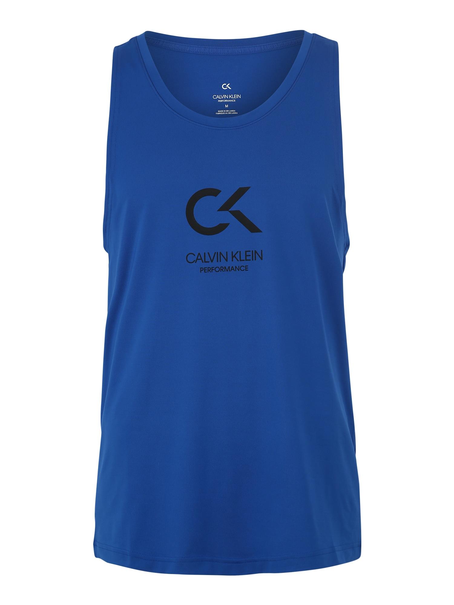 Funkční tričko LOGO TANK modrá bílá Calvin Klein Performance