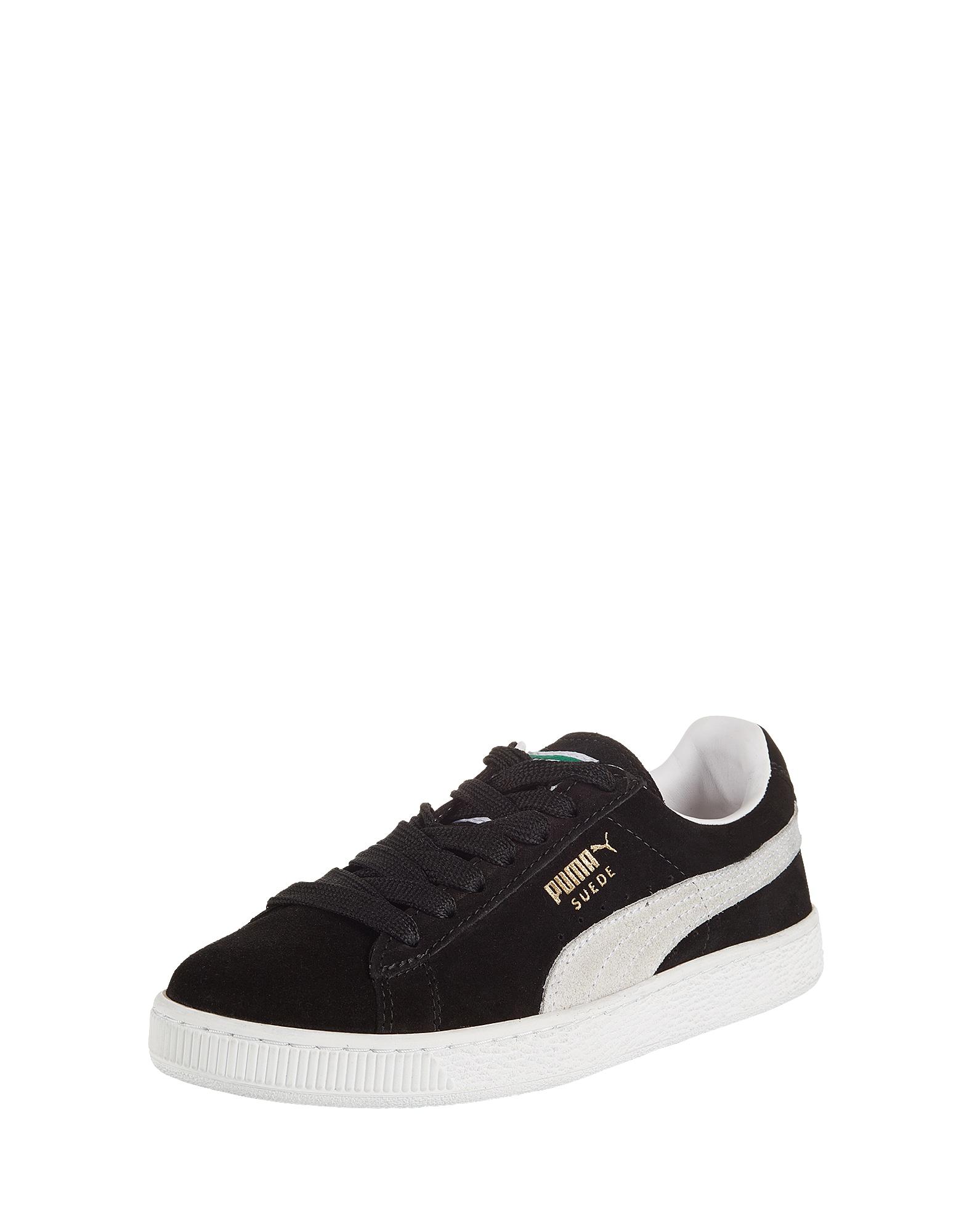 PUMA, Heren Sneakers laag 'Suede Classic', zwart / wit