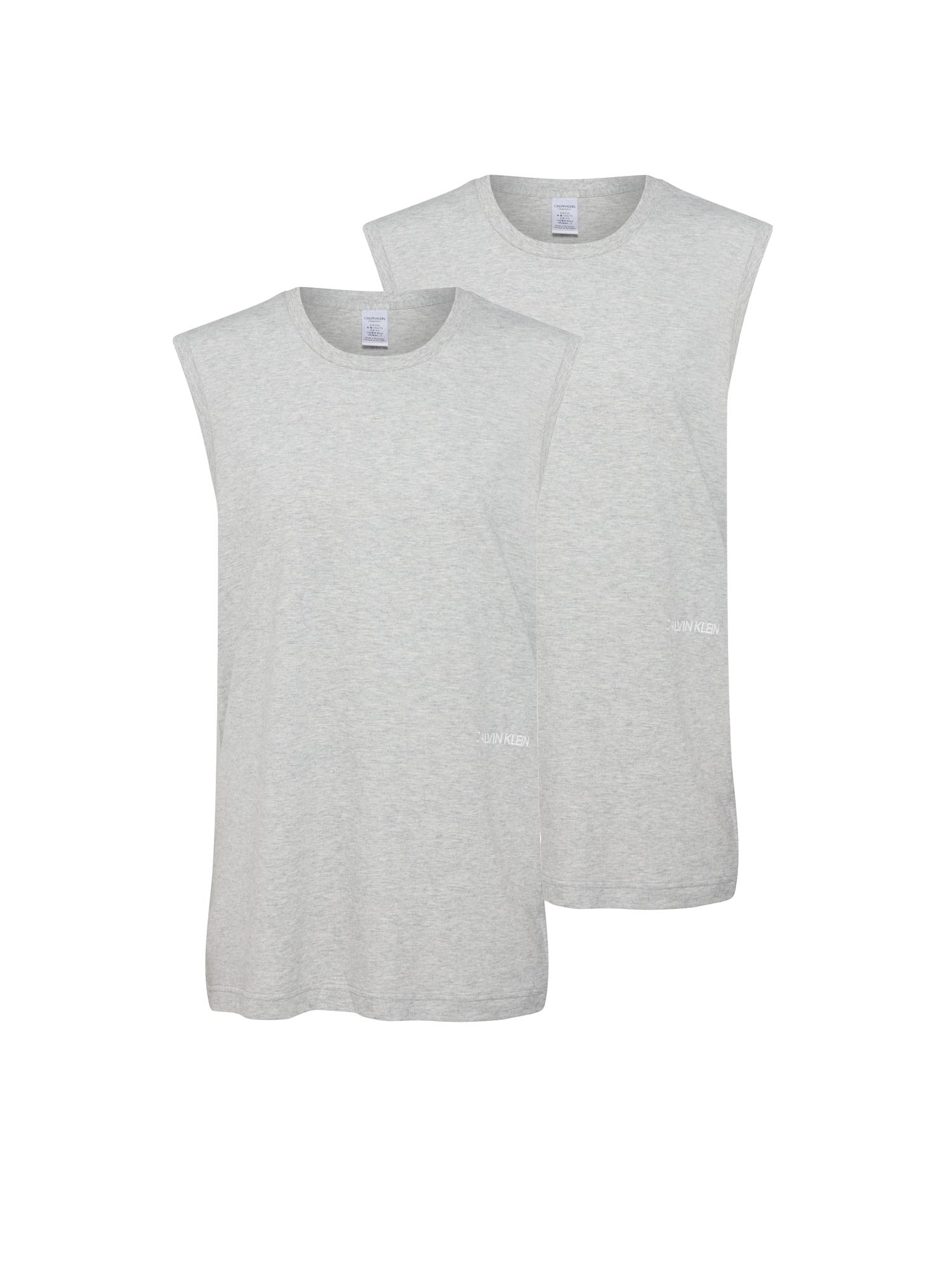 Tričko na spaní MUSCLE TANK 2PK šedá Calvin Klein Underwear