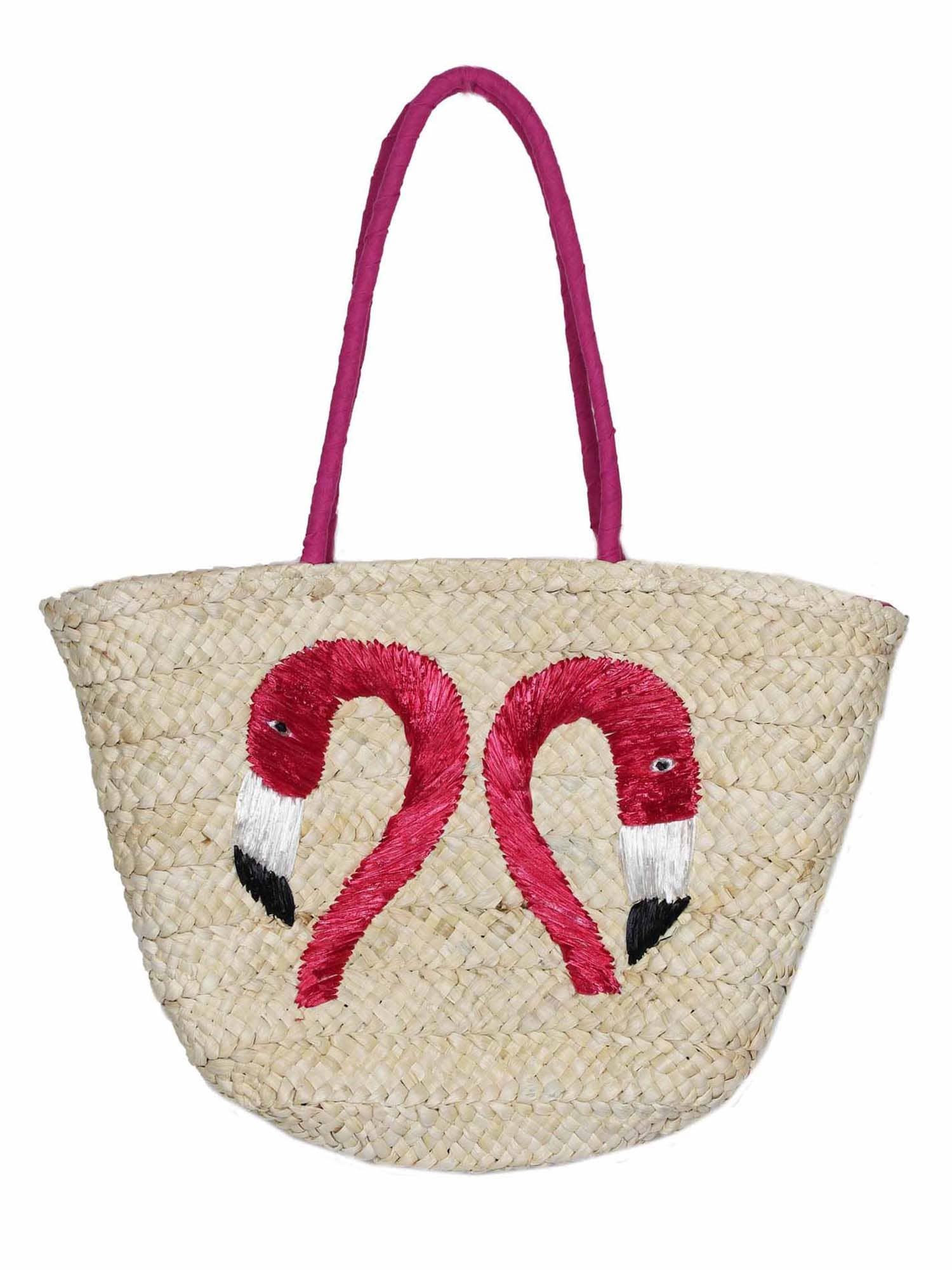Plážová taška béžová pink Zwillingsherz
