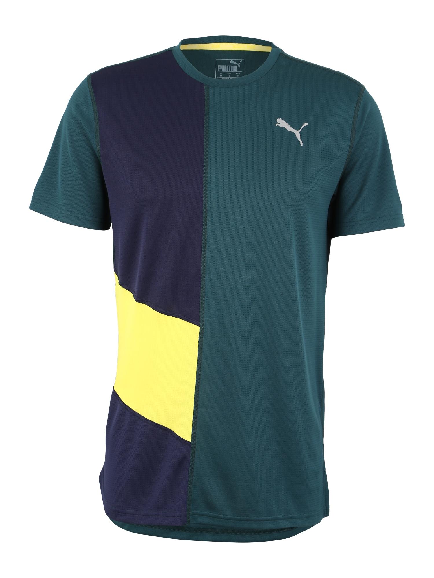 Funkční tričko Ignite žlutá petrolejová tmavě fialová PUMA