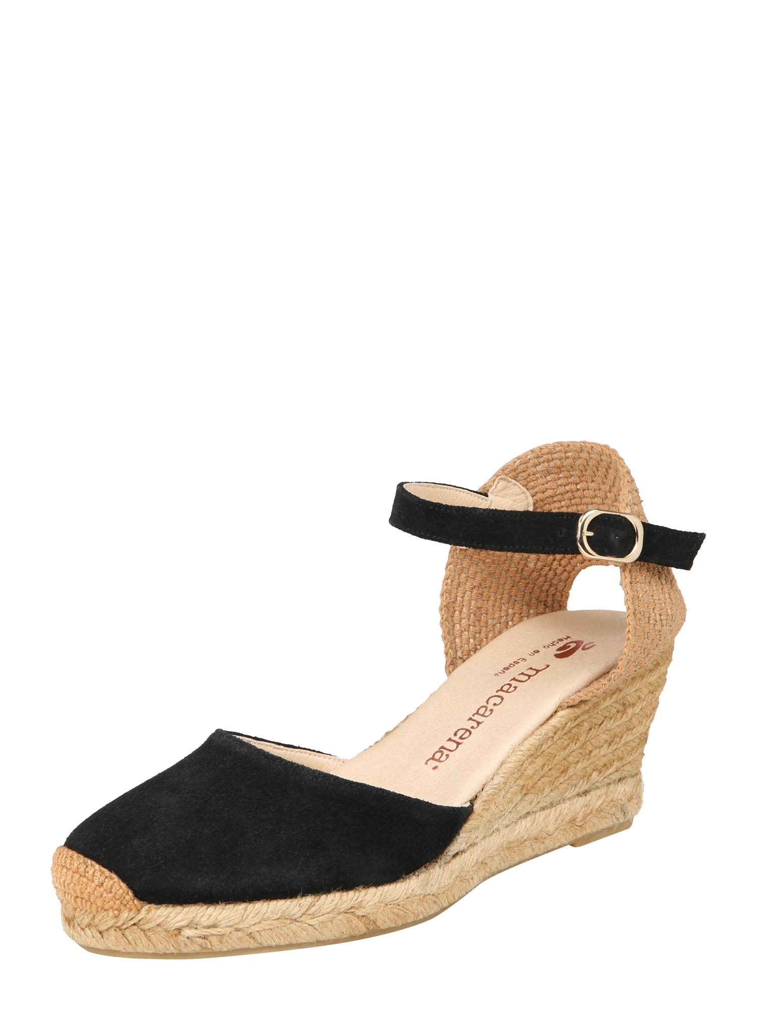 Sandály Ana 21 černá MACARENA