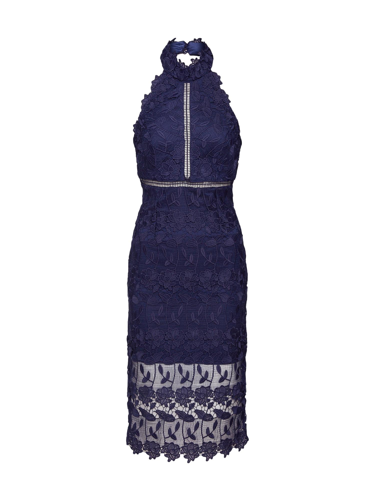 Koktejlové šaty NONI HALTER DRESS námořnická modř Bardot
