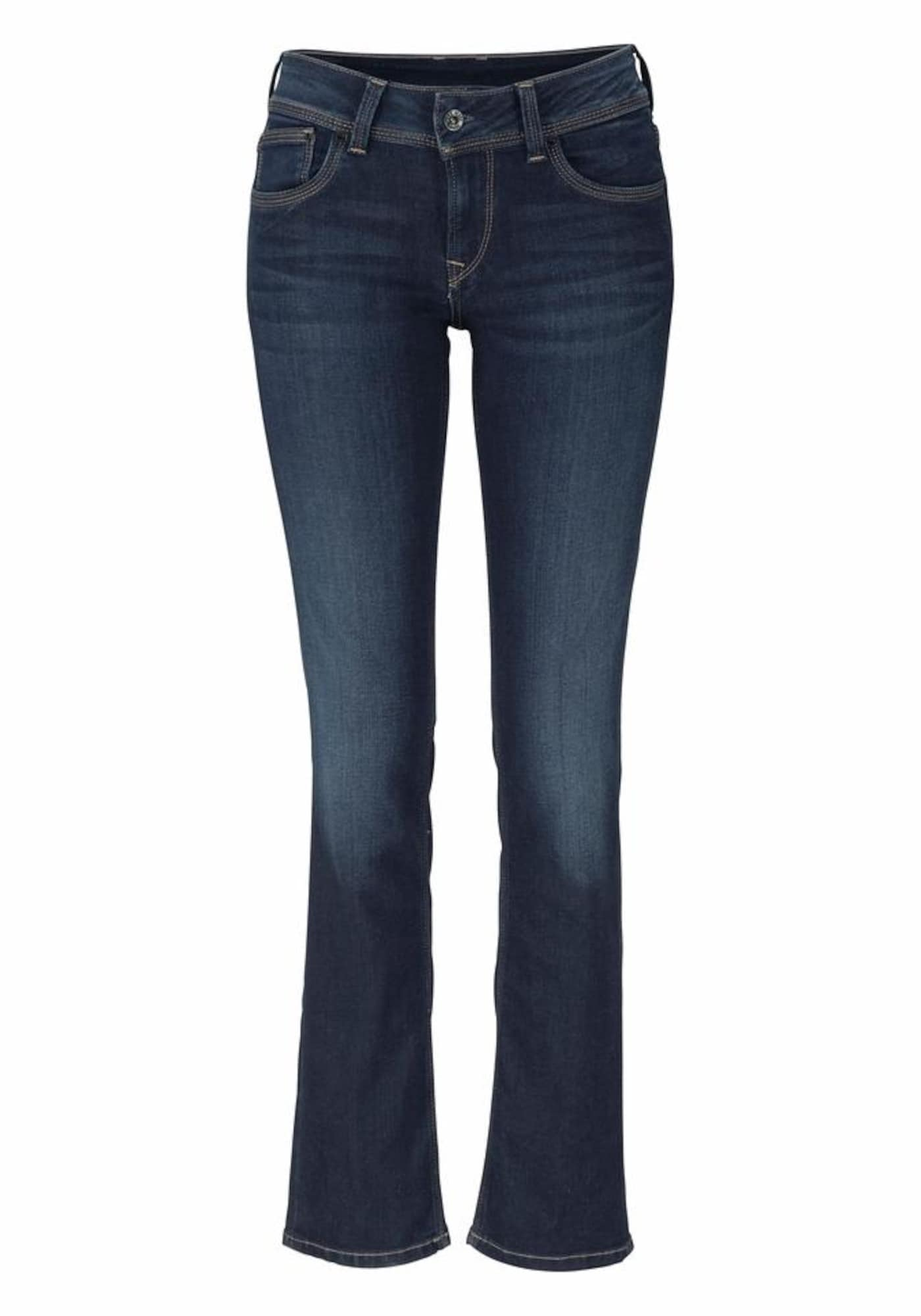 Pepe Jeans Dames Jeans Saturn donkerblauw