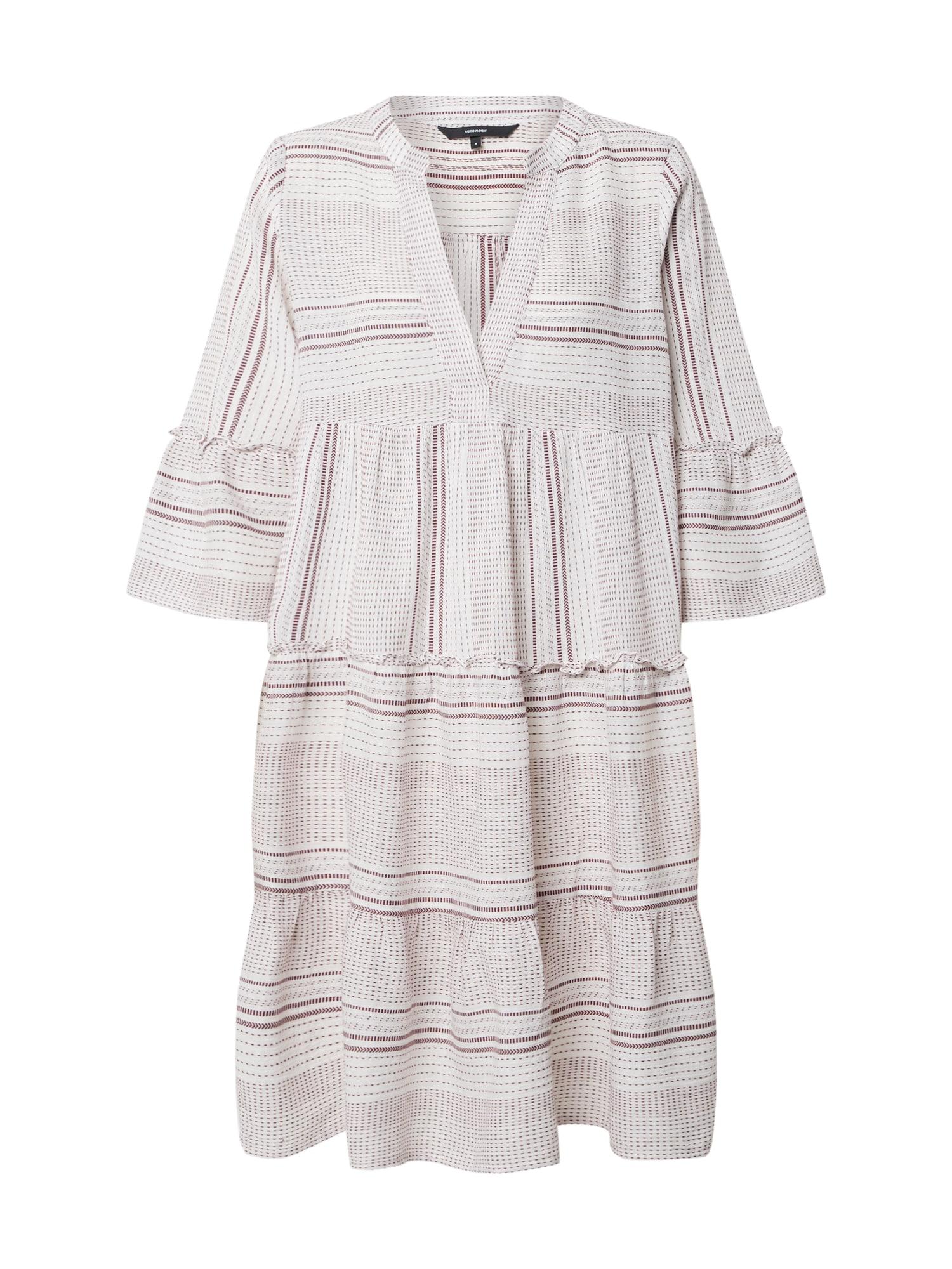 VERO MODA Letní šaty 'VMHAZEL'  červená / bílá