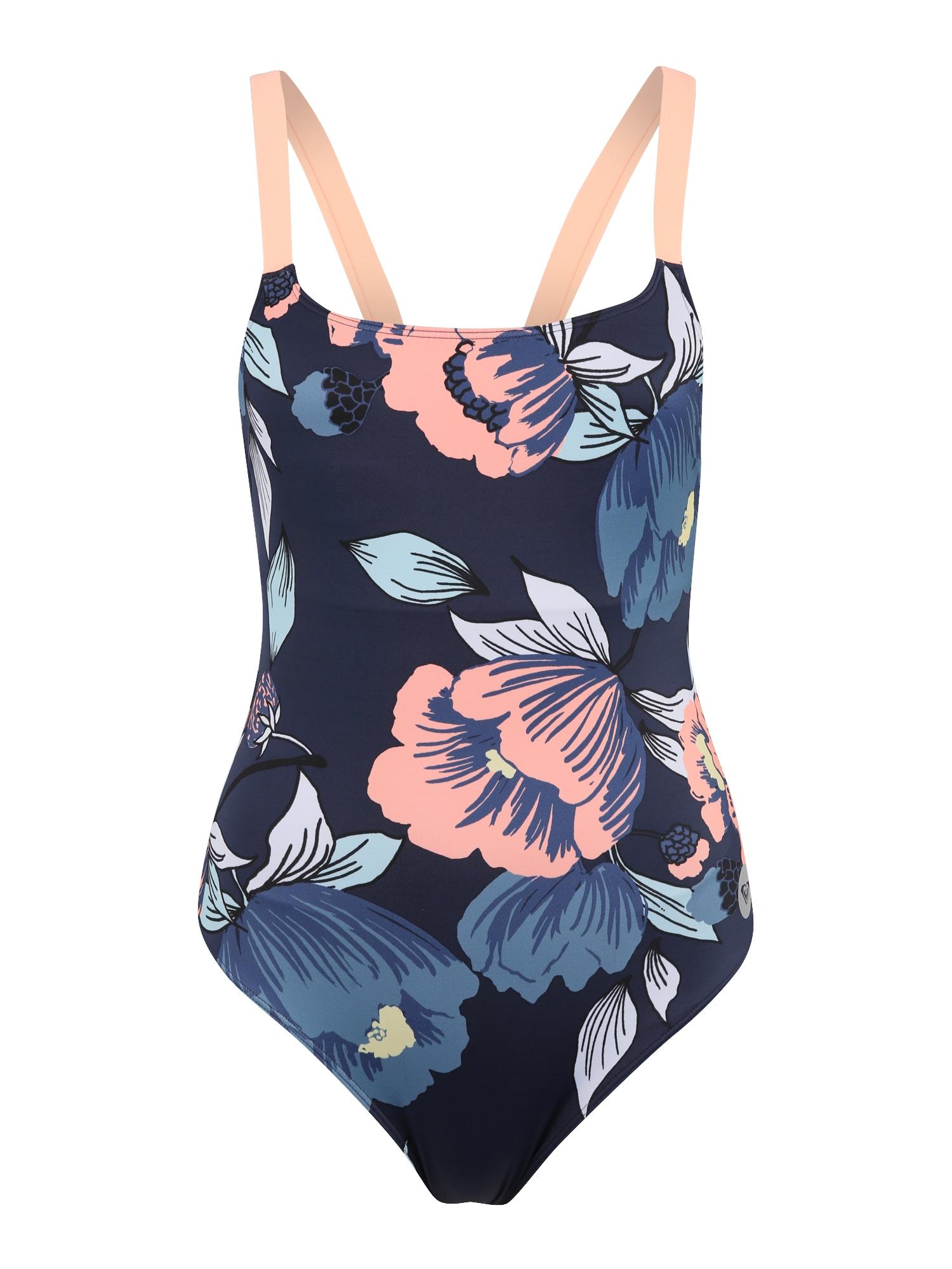 Sportovní plavky FITNESS tmavě modrá růžová ROXY
