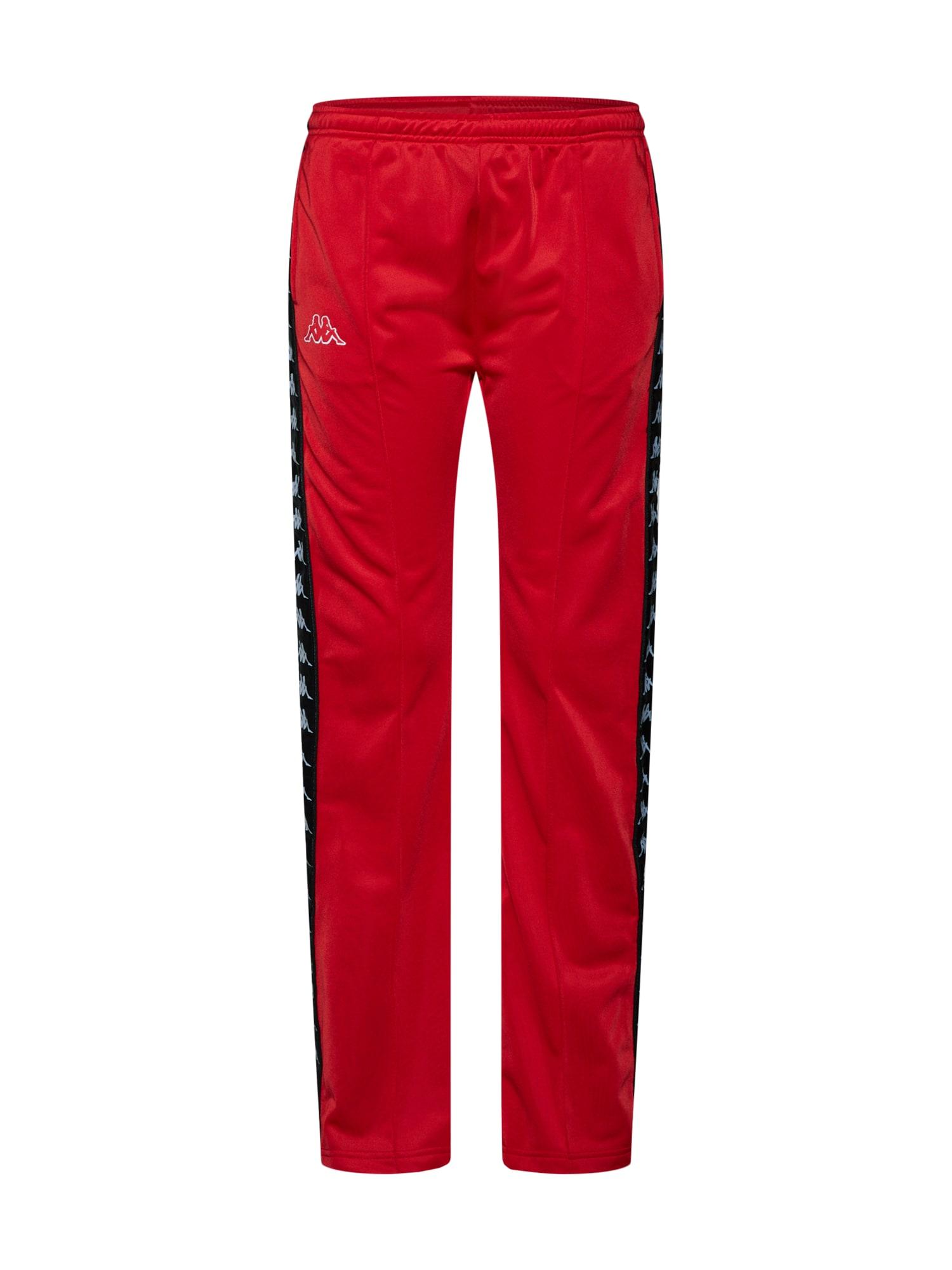 Sportovní kalhoty 222 Banda Wastoria Snaps červená černá bílá KAPPA
