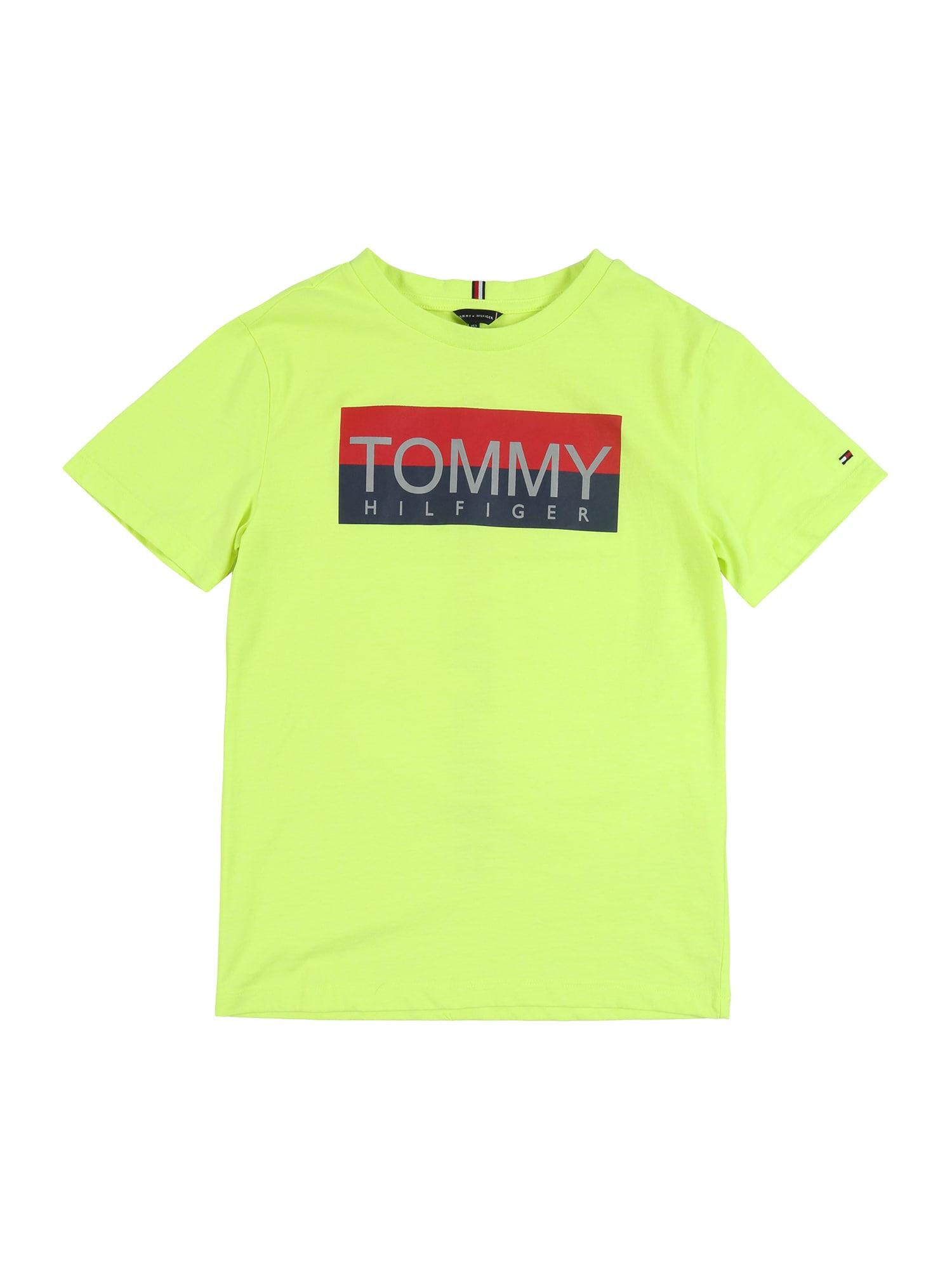 TOMMY HILFIGER Tričko 'REFLECTIVE'  svítivě žlutá
