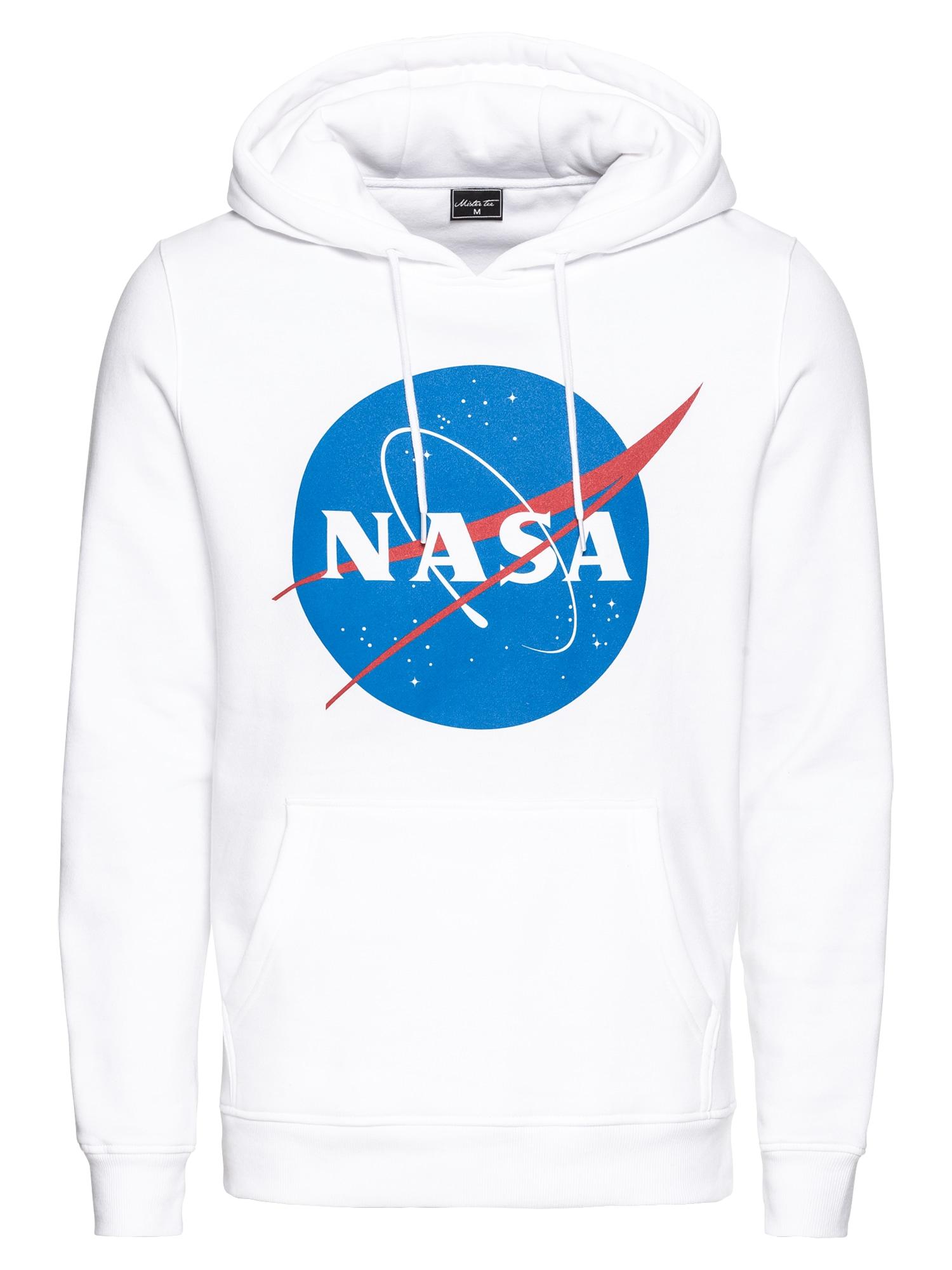 Mikina NASA modrá červená bílá Mister Tee