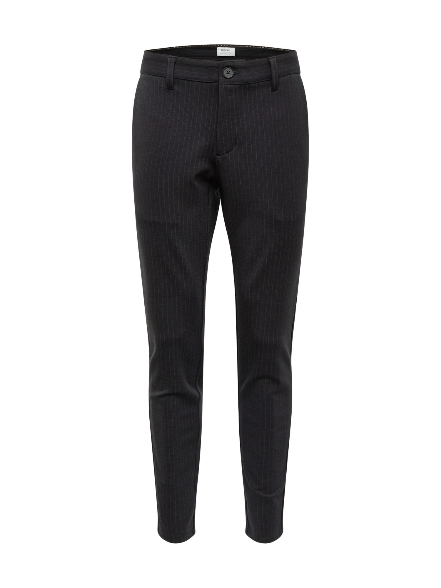 Chino kalhoty onsMARK PANT STRIPE GW 3727 NOOS černá Only & Sons