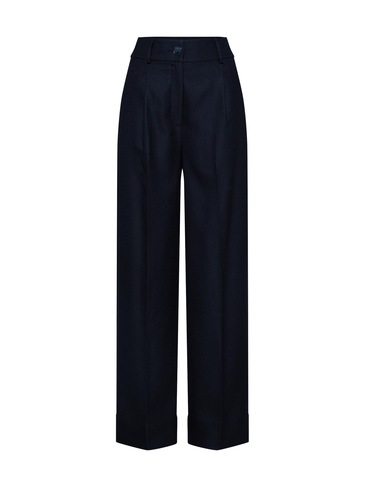 Kalhoty se sklady v pase Neville námořnická modř EDITED