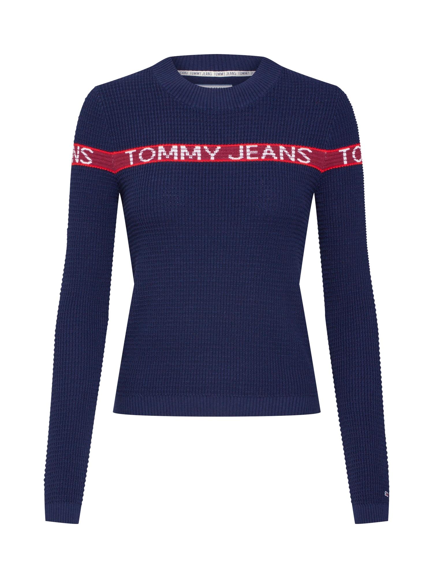 Svetr námořnická modř červená Tommy Jeans