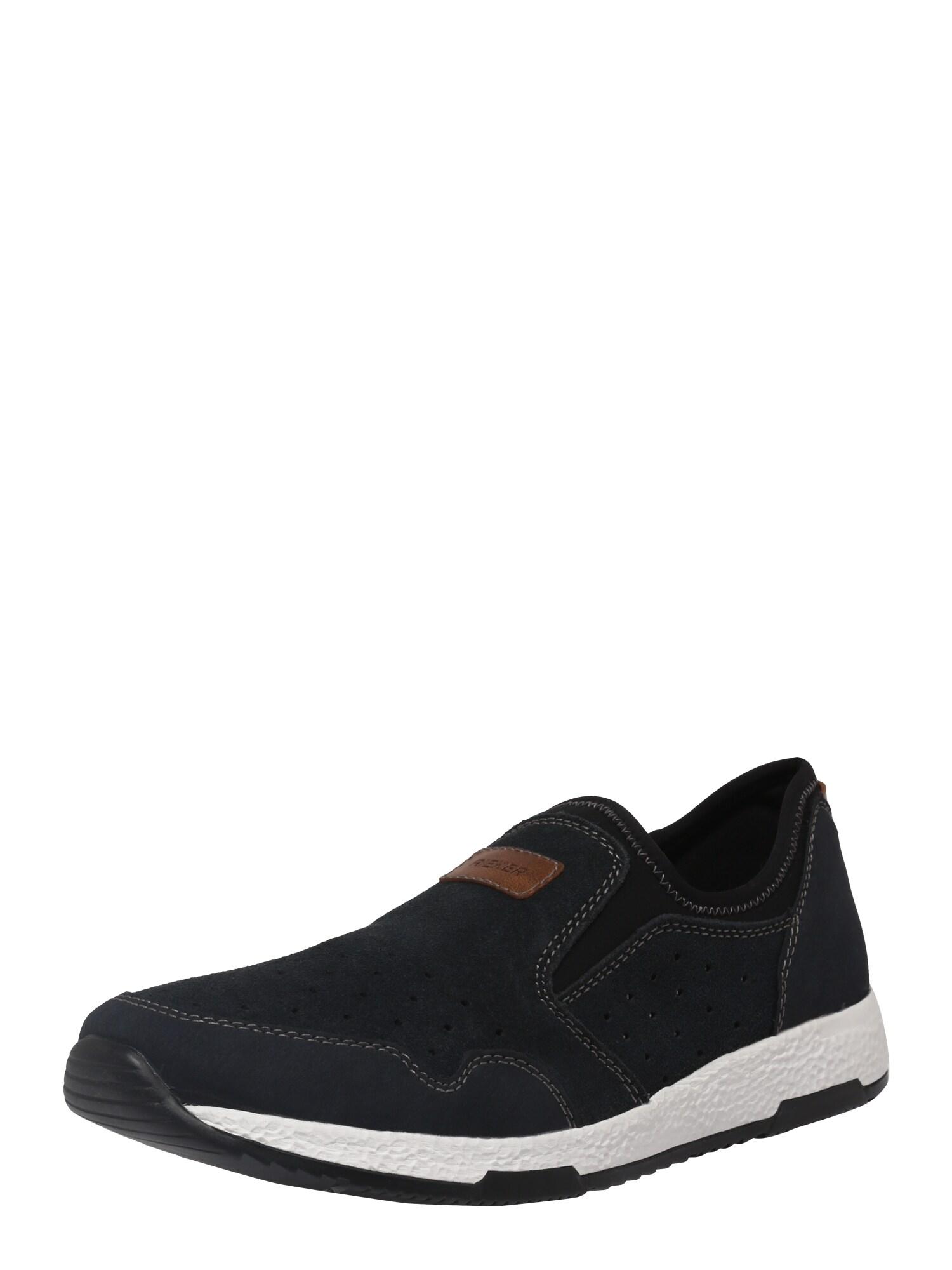 Slip on boty hnědá černá bílá RIEKER