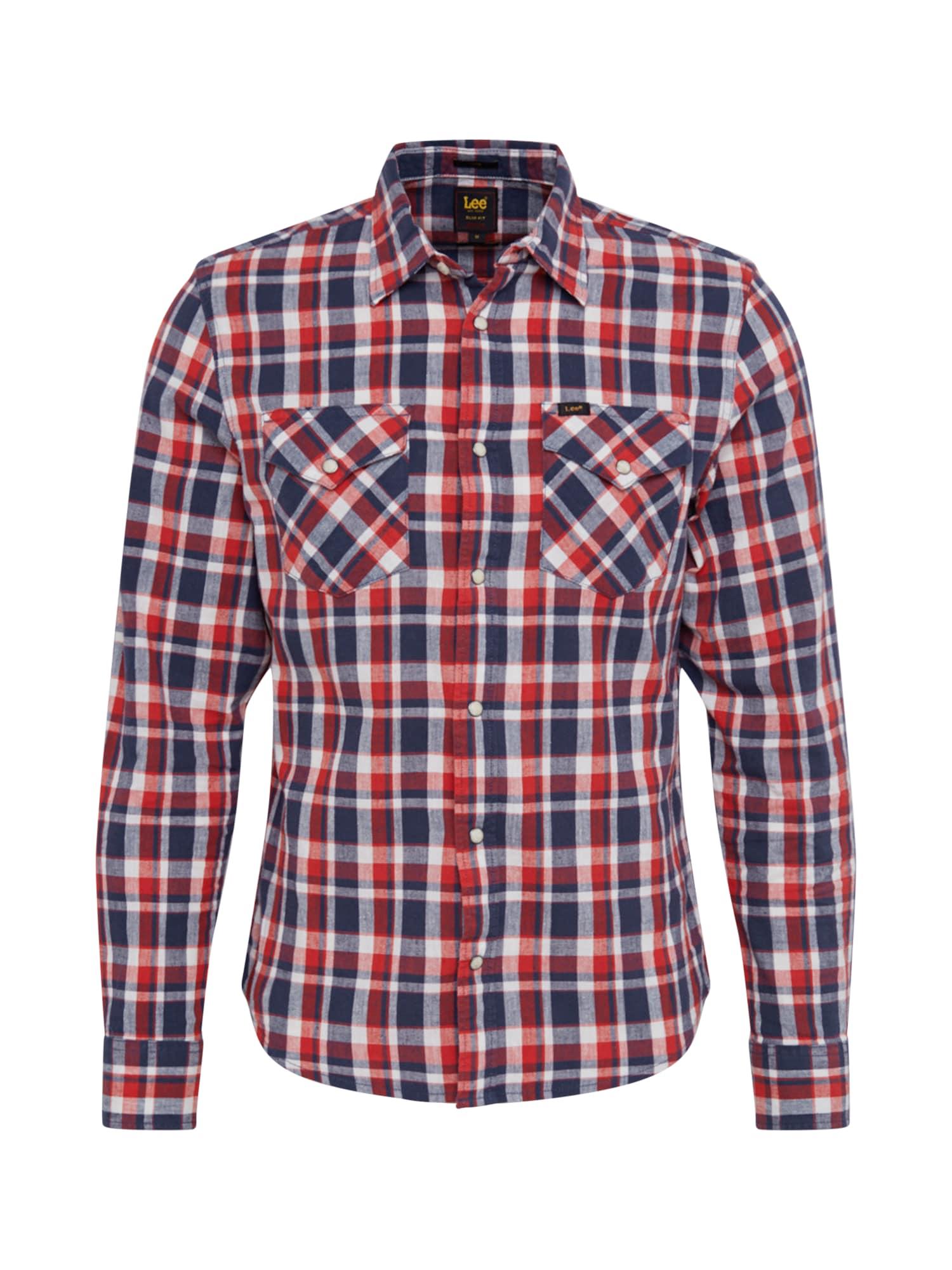Lee Košile 'CLEAN WESTERN'  červená / tmavě modrá / bílá