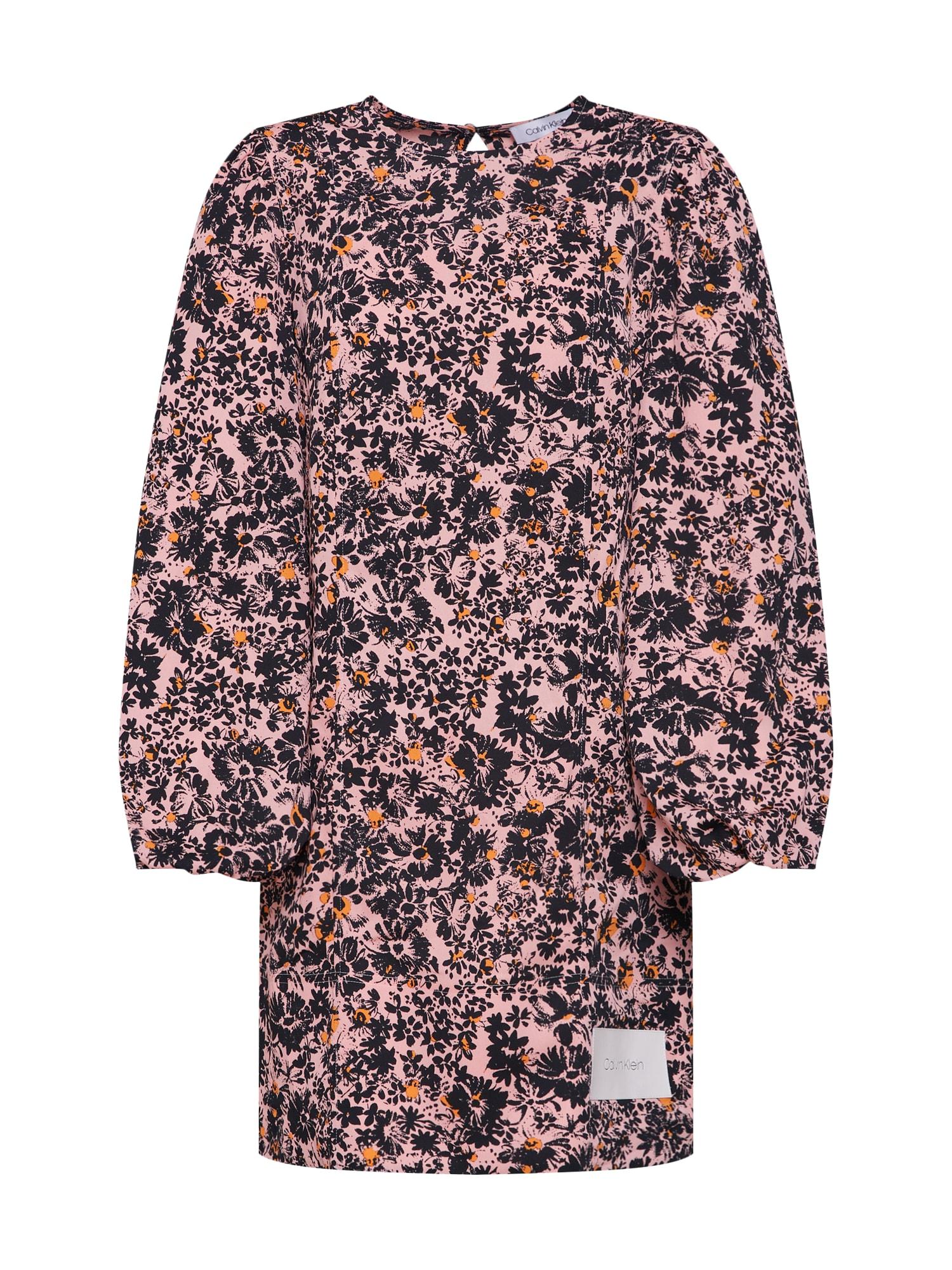 Šaty PUFF mix barev růžová Calvin Klein