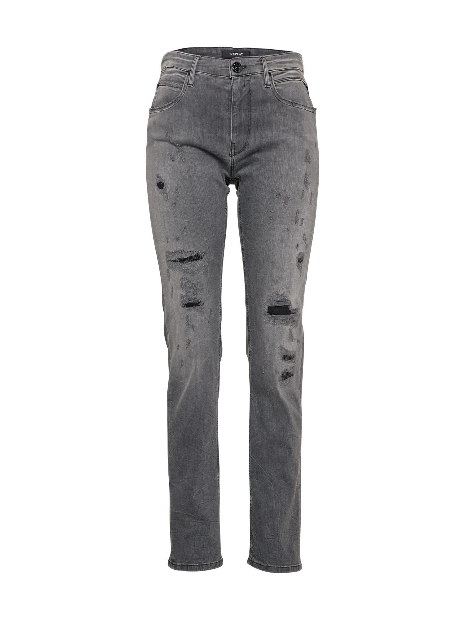 REPLAY Dames Jeans Jengre grey denim