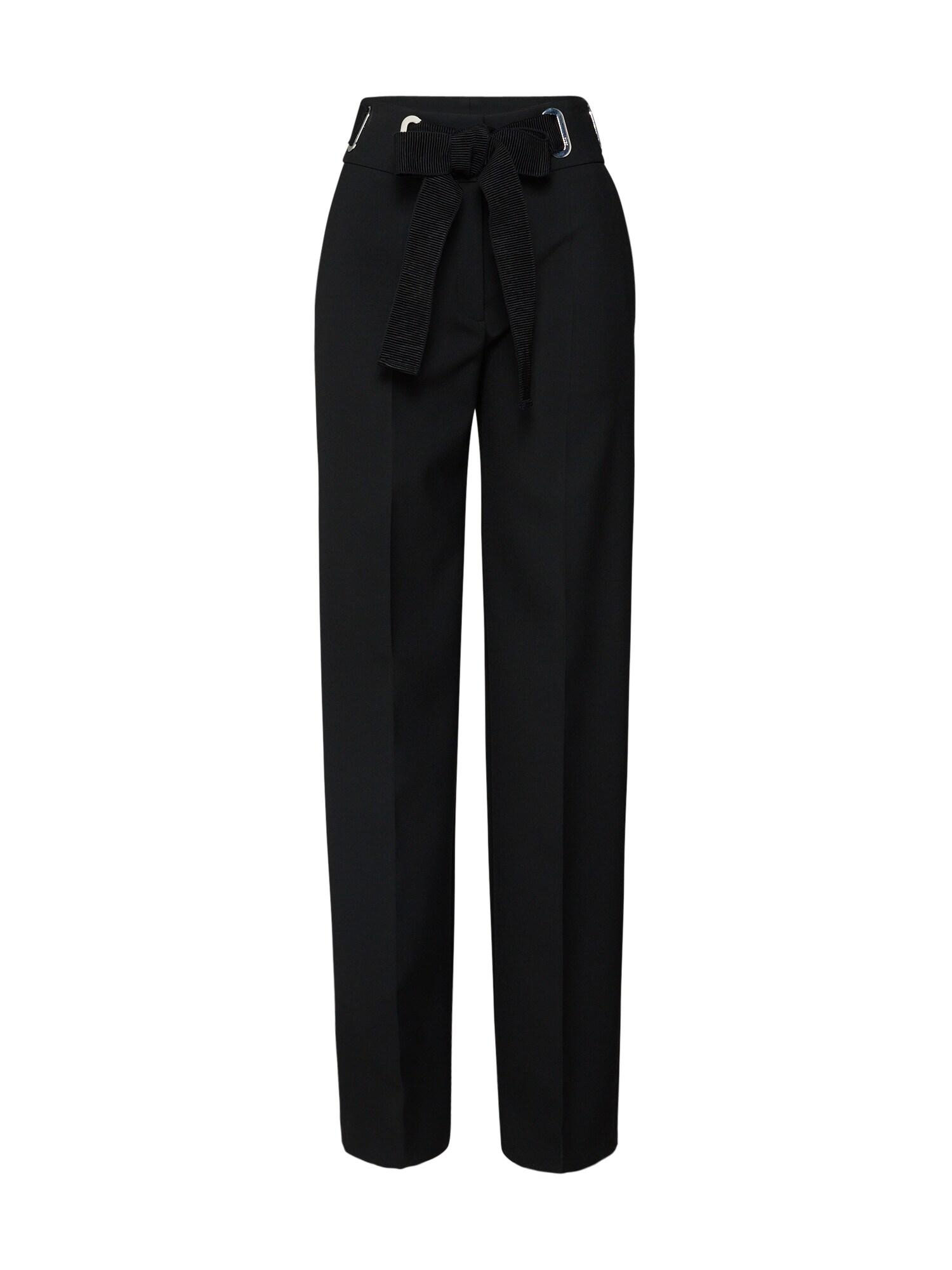 Kalhoty s puky Hiselli černá HUGO