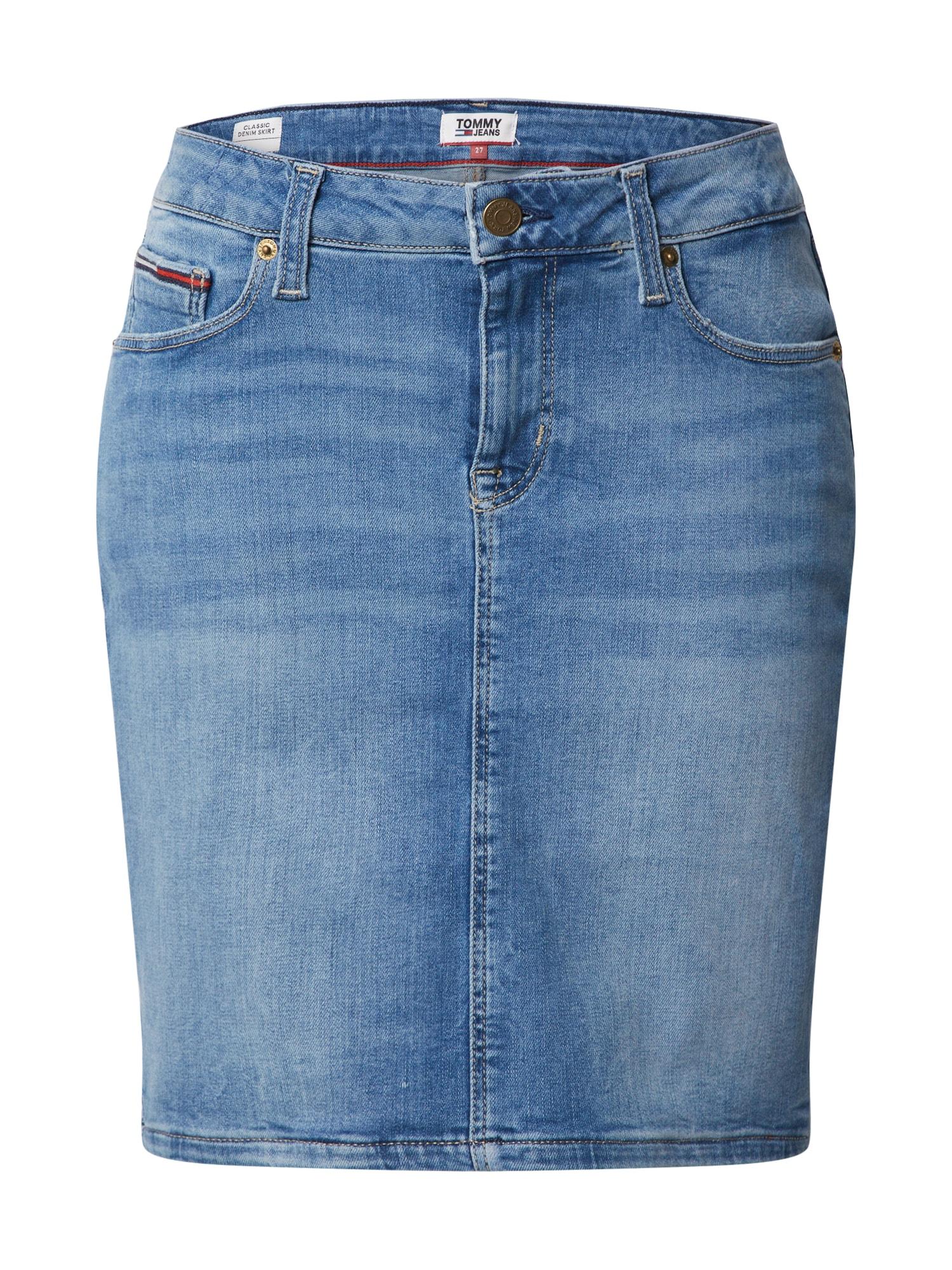 Tommy Jeans Sukně  modrá