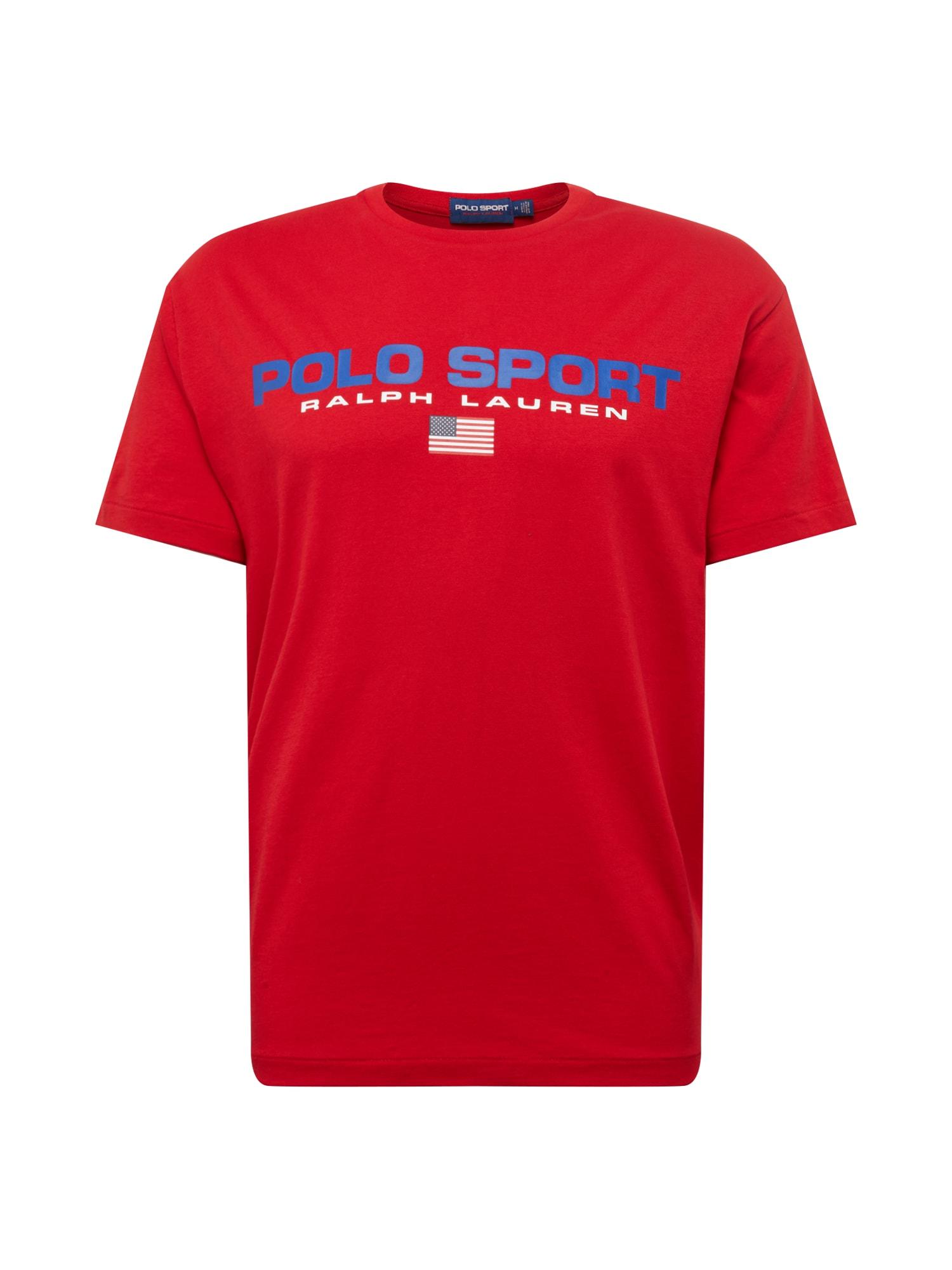 Tričko 261 JERSEY-SSL-TSH tmavě modrá červená POLO RALPH LAUREN