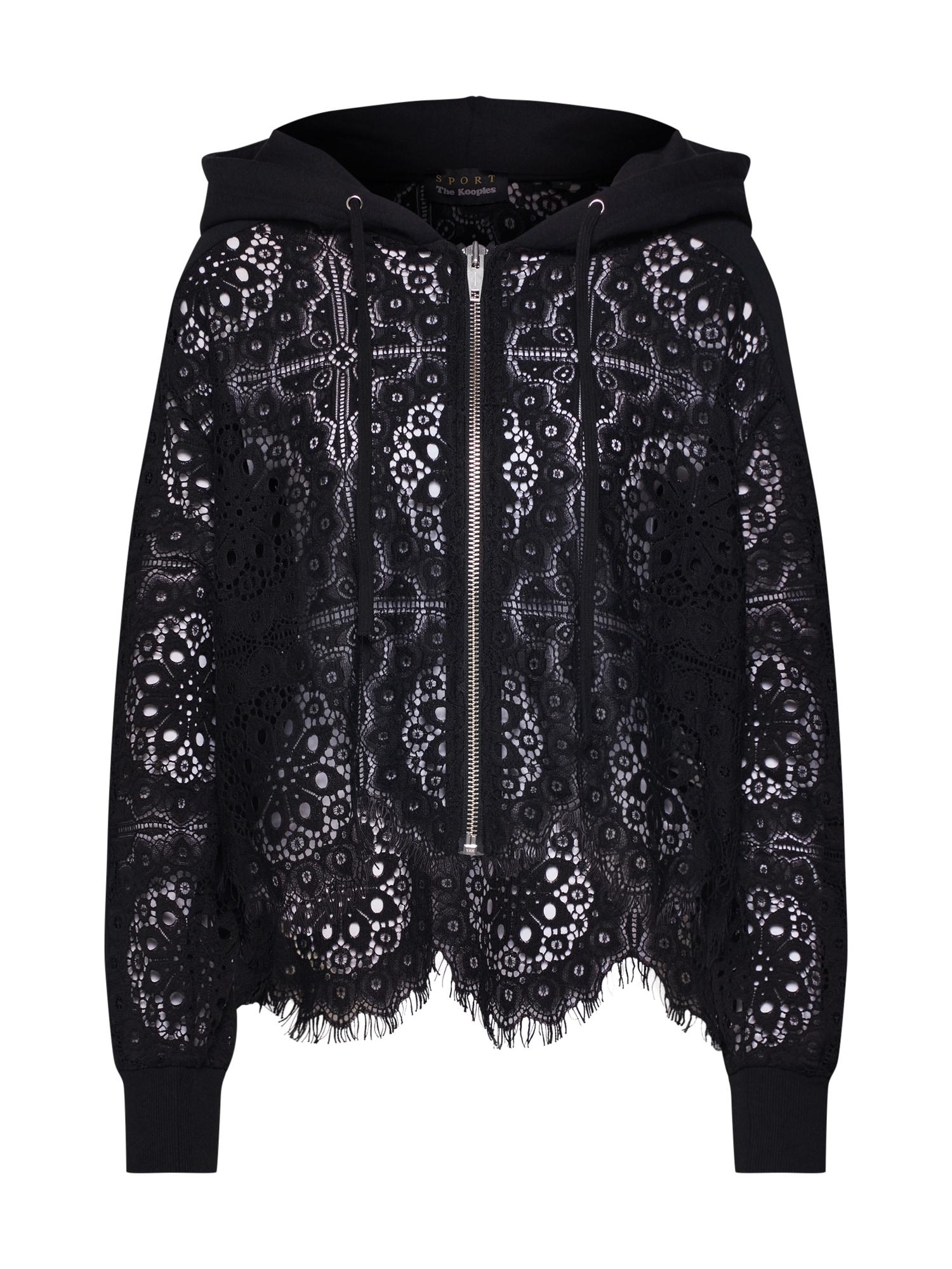 THE KOOPLES SPORT Mikina s kapucí  černá
