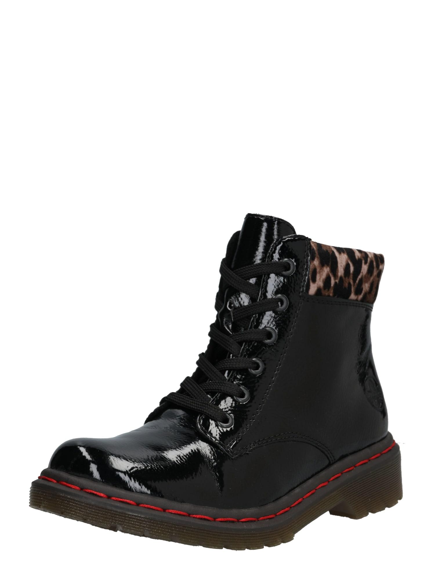 Šněrovací boty Y8212 černá RIEKER