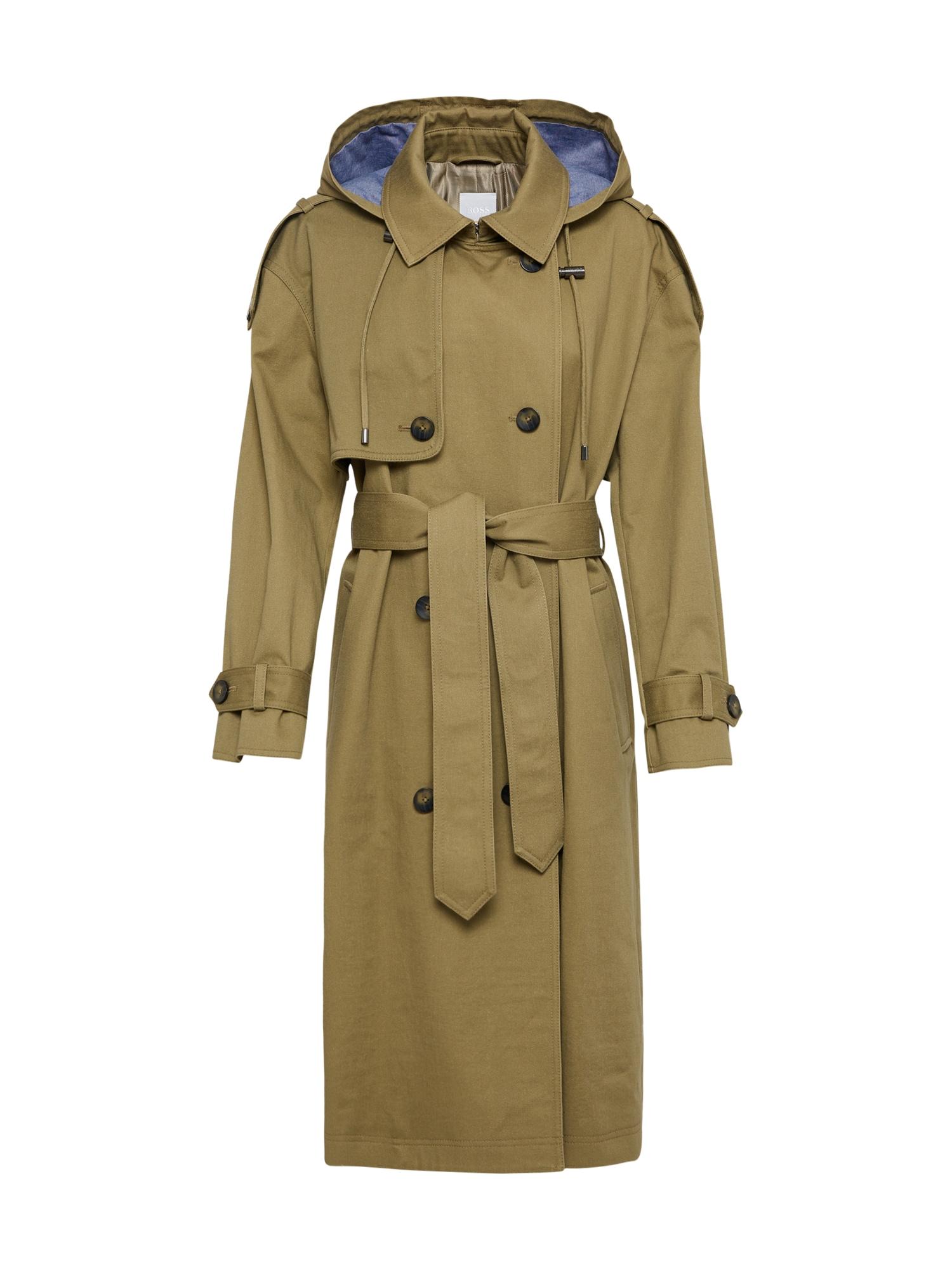 Přechodný kabát Omazing khaki BOSS